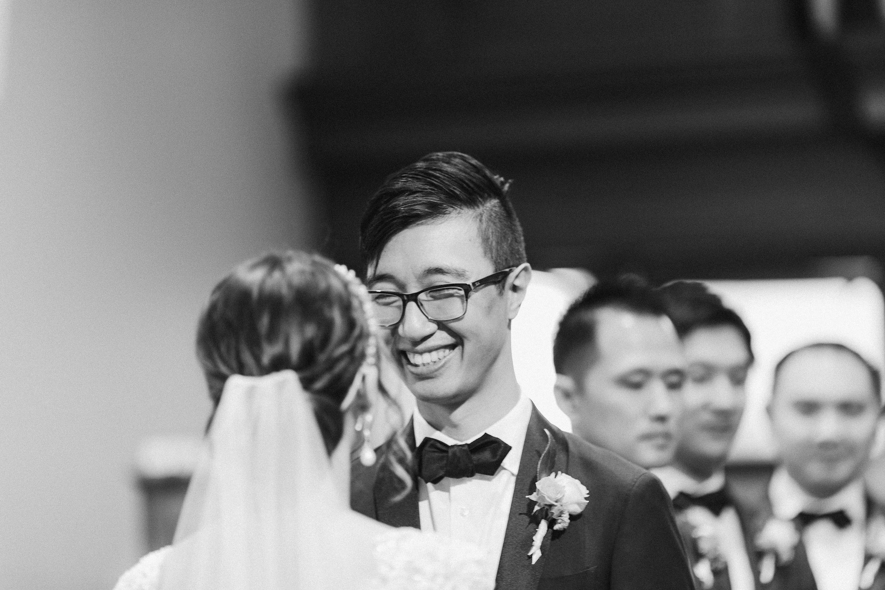 Melbourne-caufield-north-wedding-church-ceremony-groom-smile