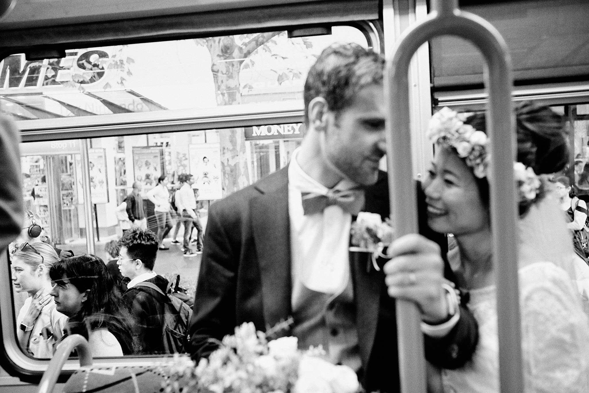 Melbourne-NGV-Triennial-Wedding-Tram