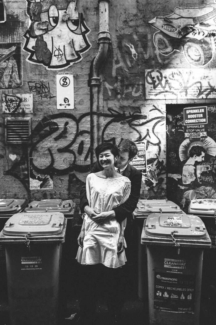Melbourne Wedding Photographer Graffiti Flinders Lane
