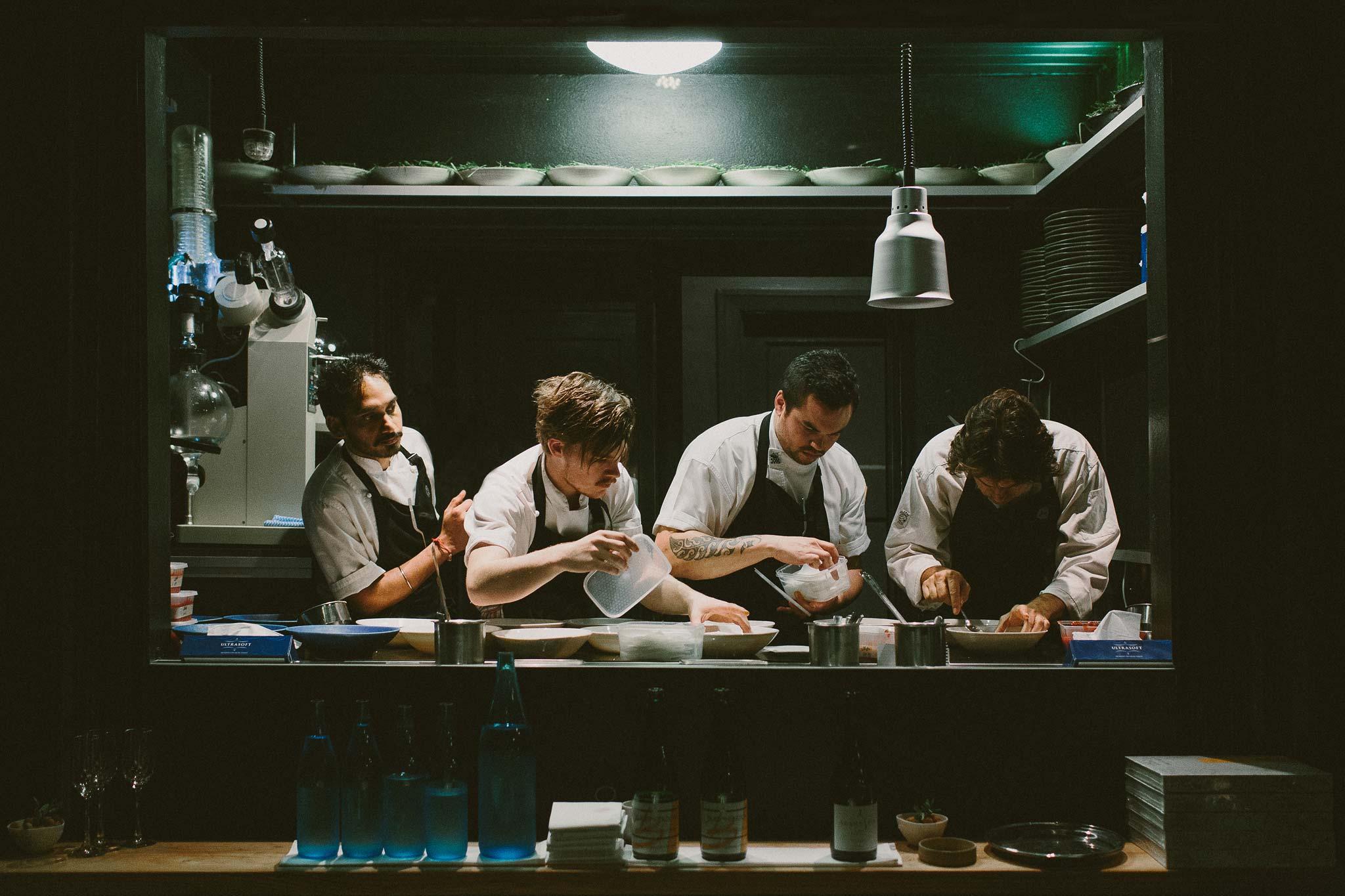 Kitchen and chefs of Attica Melbourne