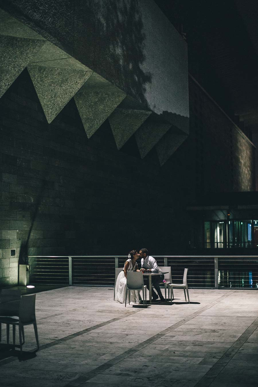 NGV Melbourne Wedding night portrait