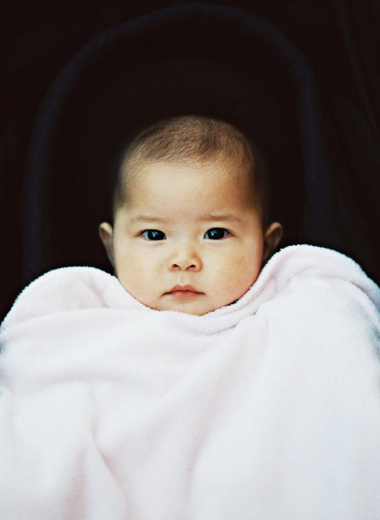 Medium film portrait of a Melbourne baby taken with a Mamiya 645