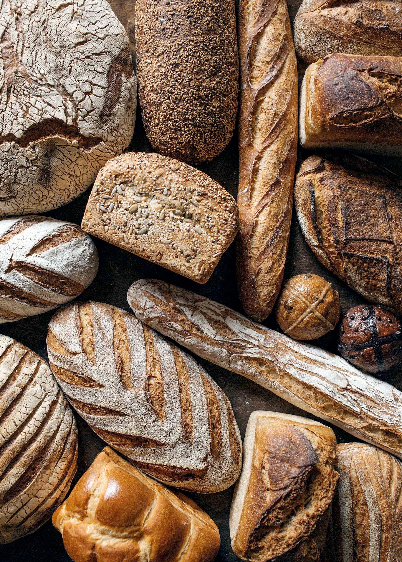 Melbourne-Food-Photographer-Burnham-Beeches-Bread-Selection