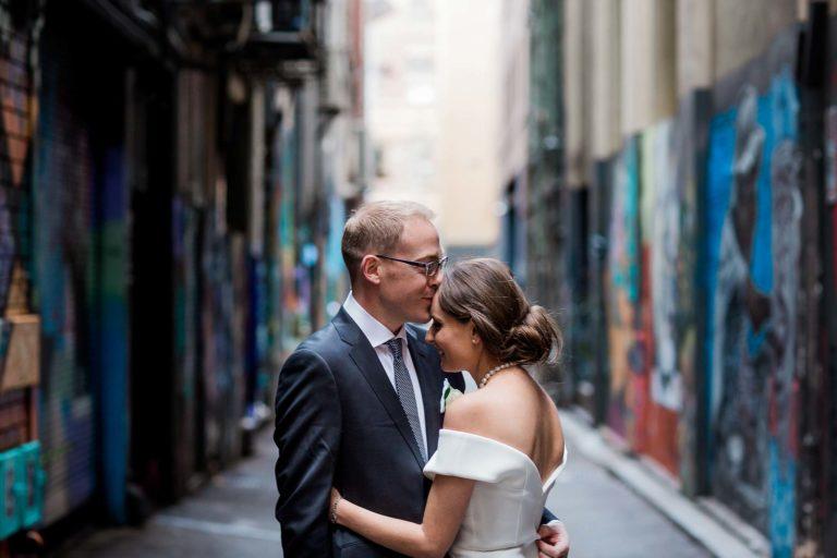 melbourne-flinders-lane-wedding-portrait-laneway-graffiti-couple