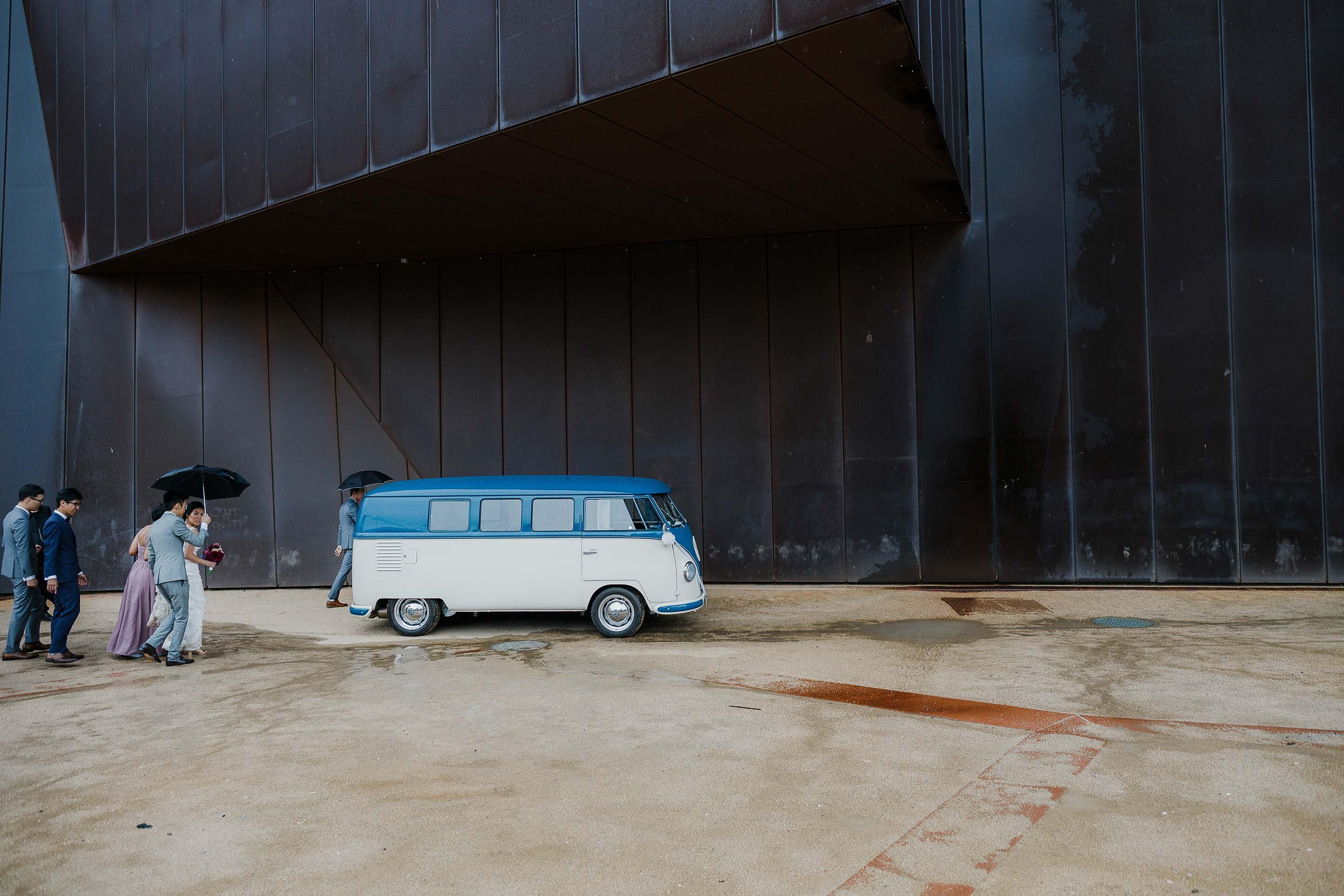 Melbourne-Richmond-Glasshaus-Wedding-vw-wagon-wedding-car