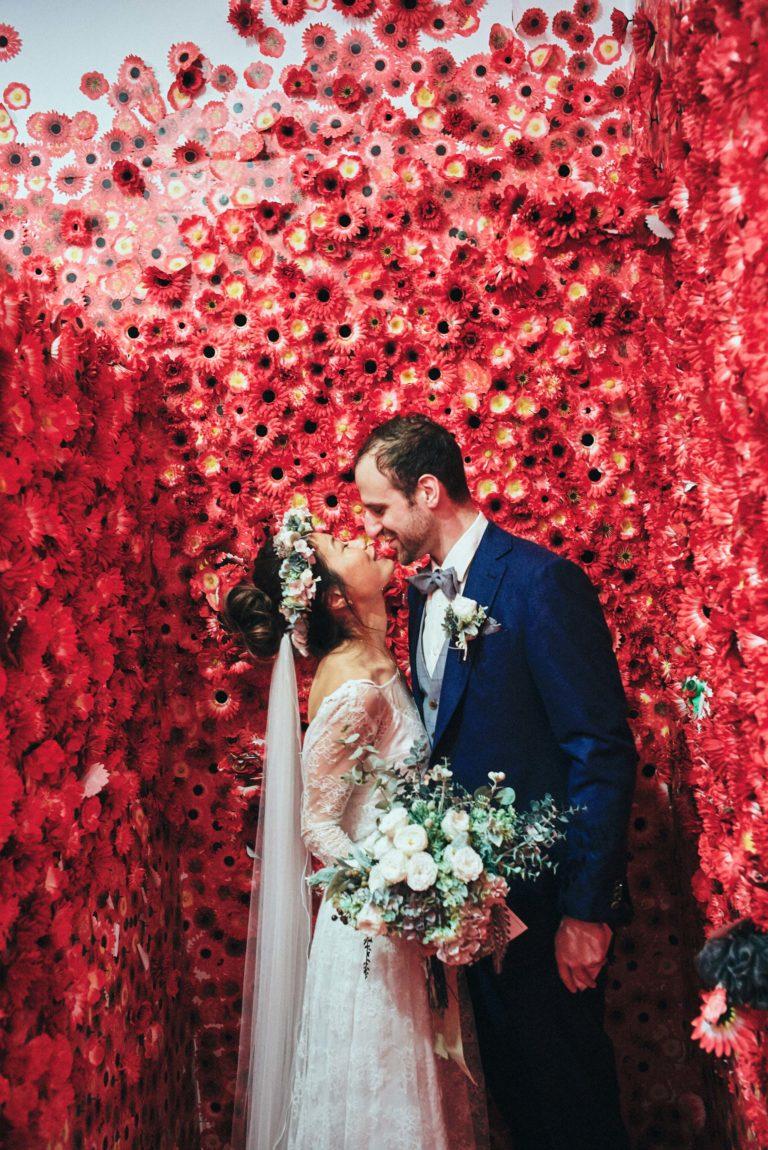 Melbourne-NGV-Triennial-Wedding-yayoi-kusama-flower-room