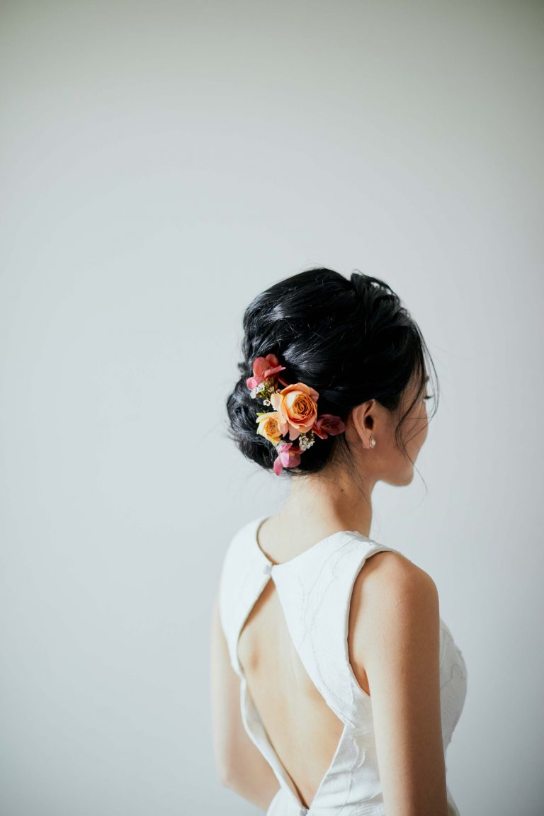 Melbourne-Wedding-Photographer-Kettle-Black-bride-hair-flower