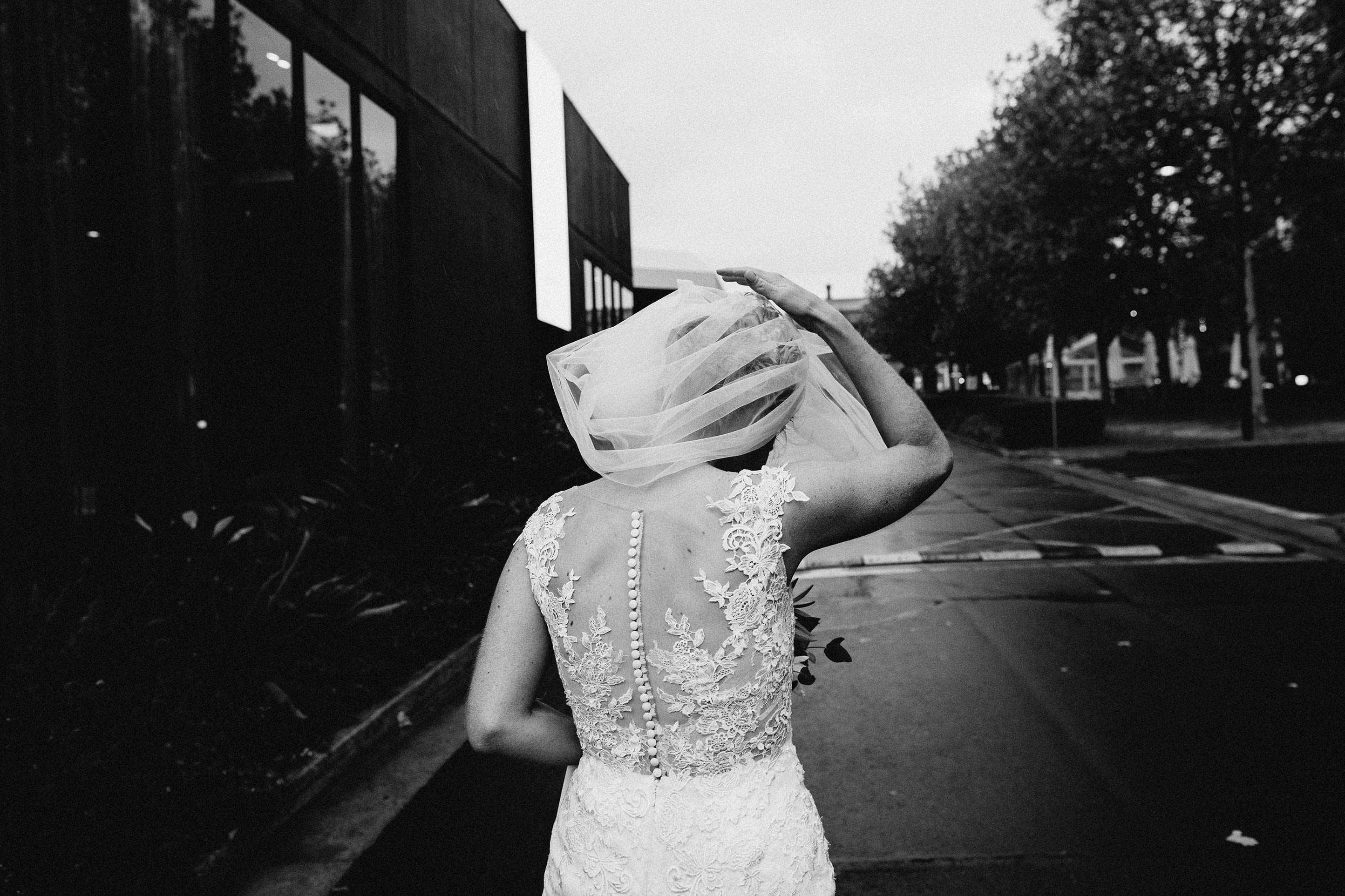 Melbourne-Richmond-Top-Paddock-Wedding-Photographer-bride-rain-veil