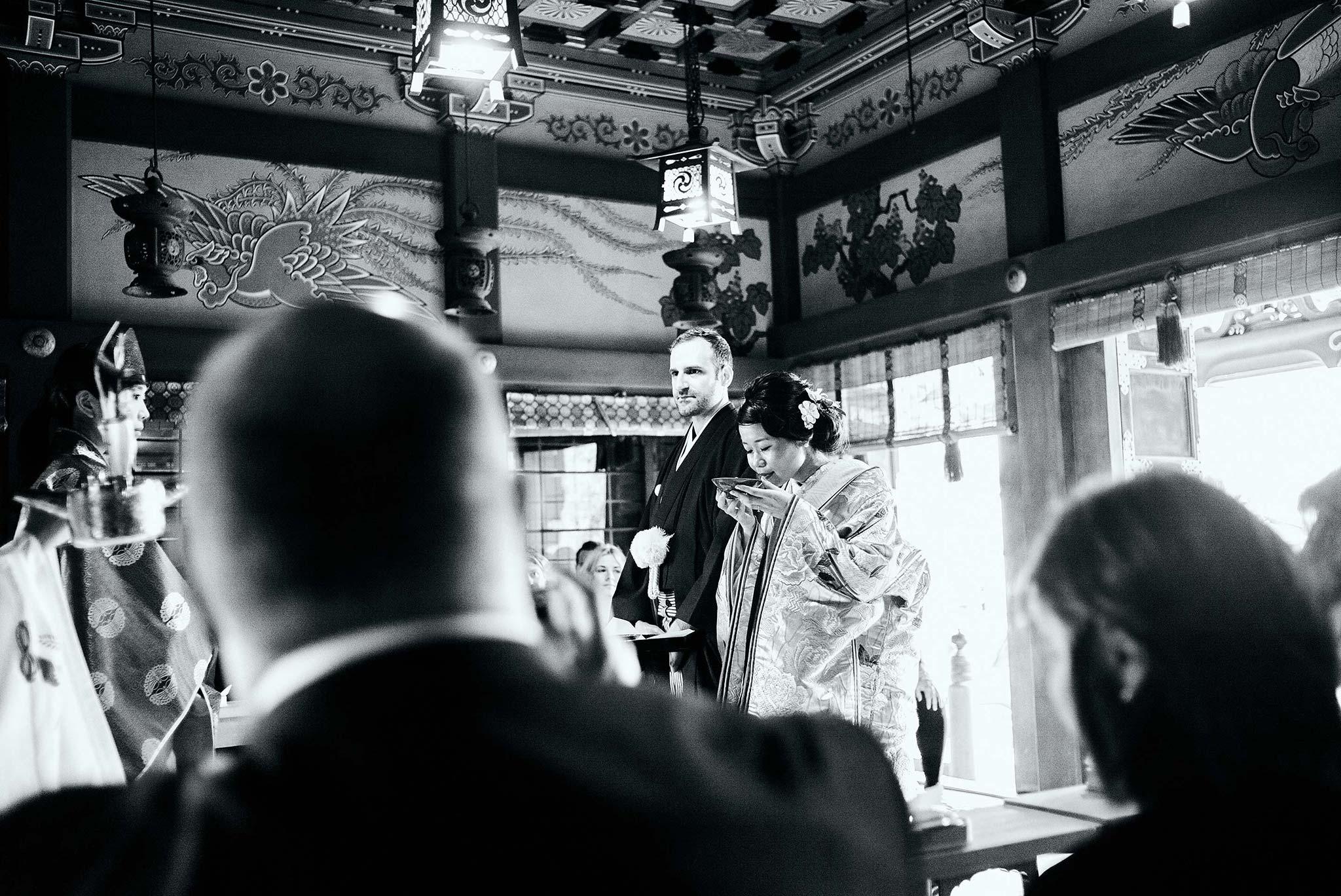 tokyo asakusa shrine traditional wedding ceremony