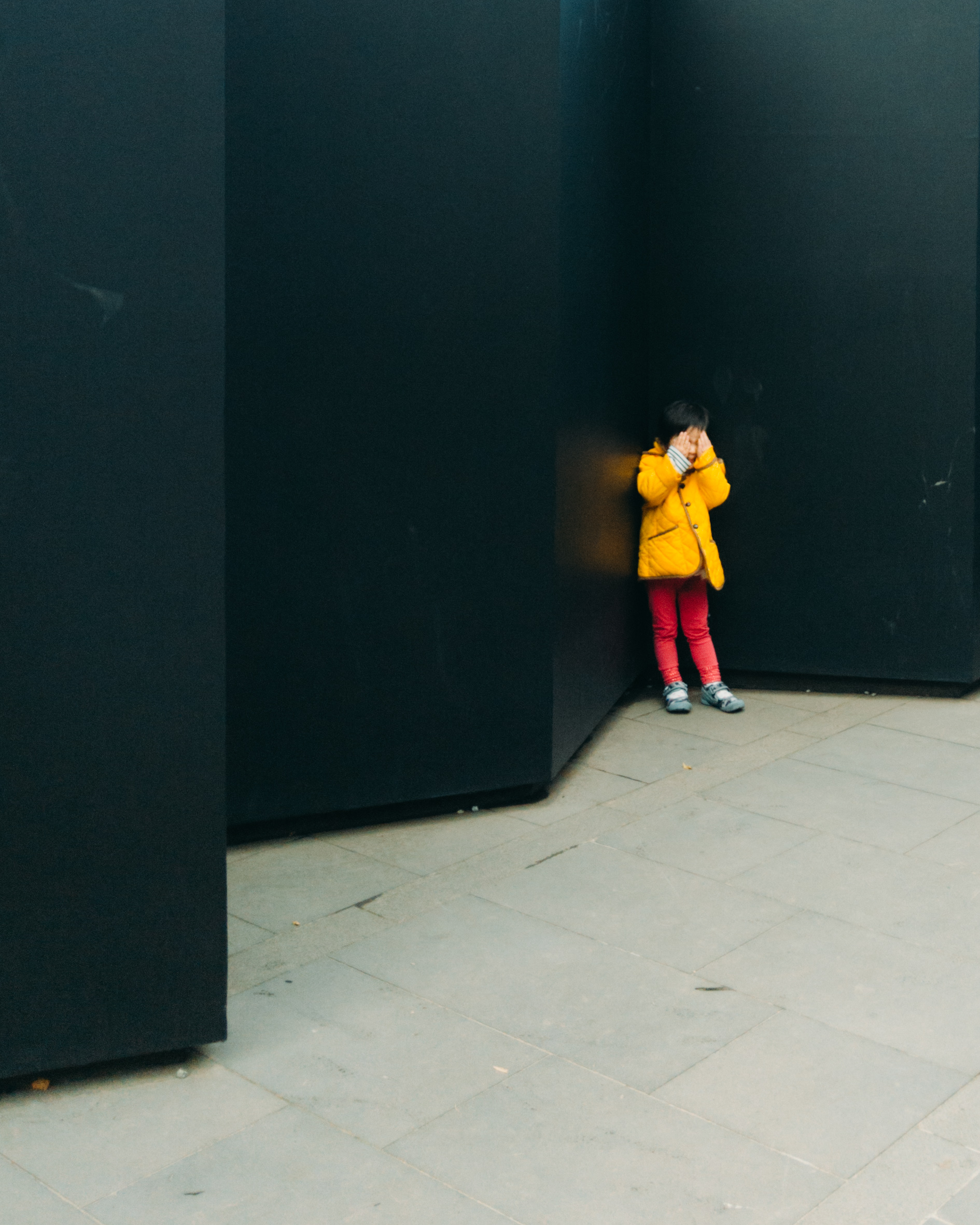 Child interacting with art piece at NGV Park Melbourne