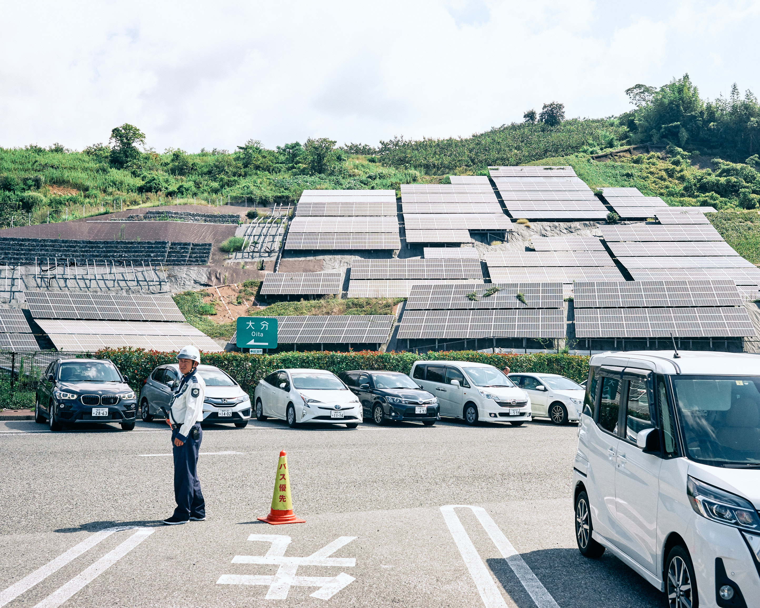 highway rest stop oita solar panels