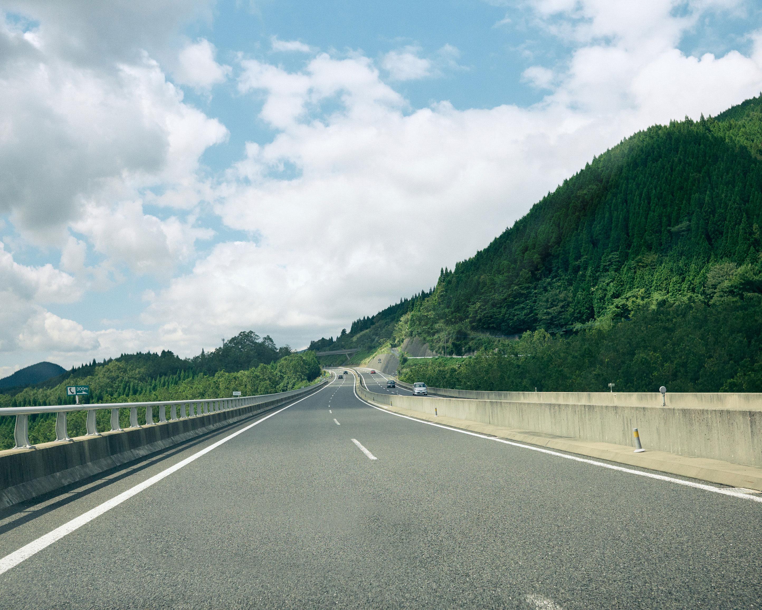 japan kyushu highway drive