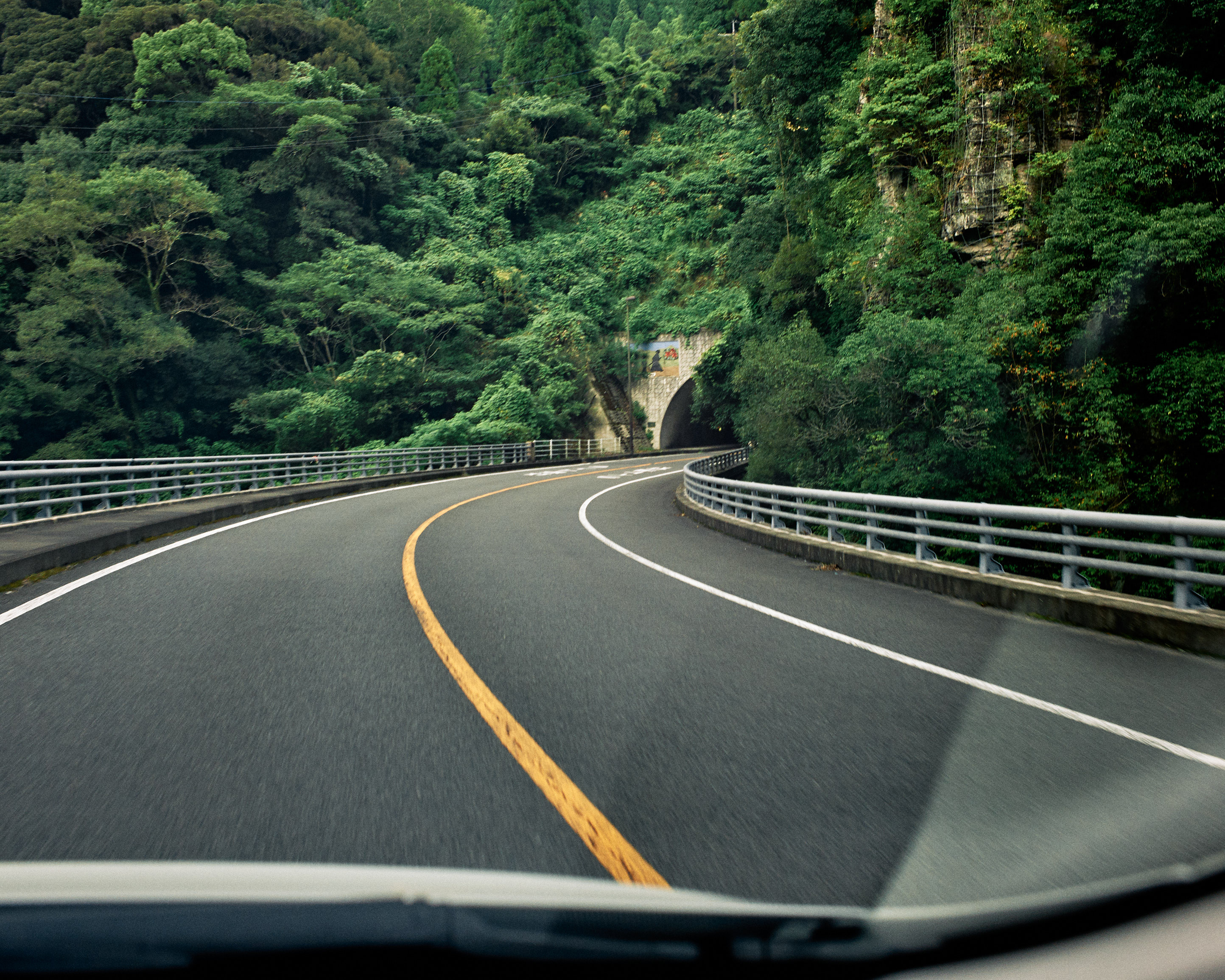 japan travel photographer kagoshima tunnel drive