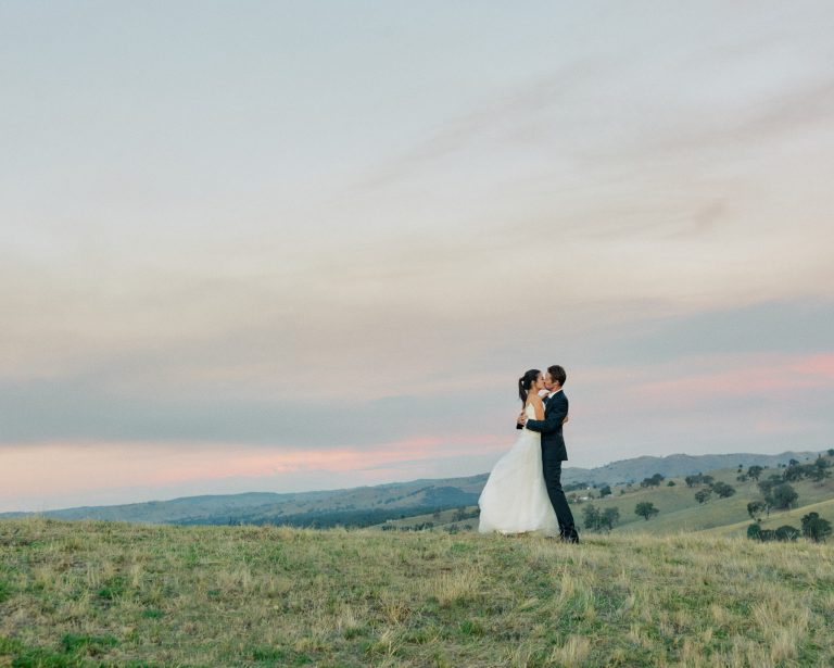Melbourne Wedding Photographer Landscape Kiss Golden Hour