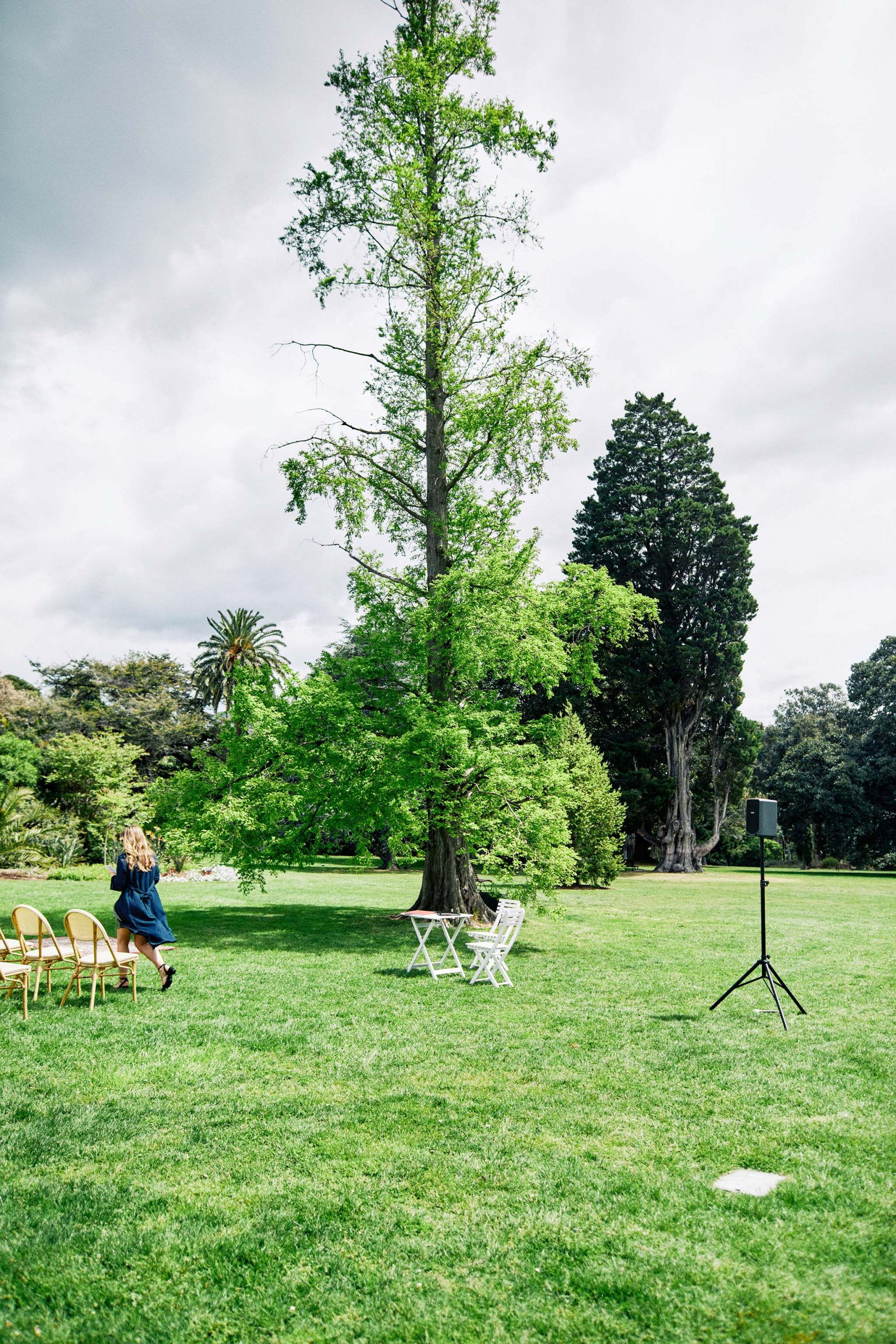 Melbourne Royal Botanical Garden Wedding Ceremony Set Up