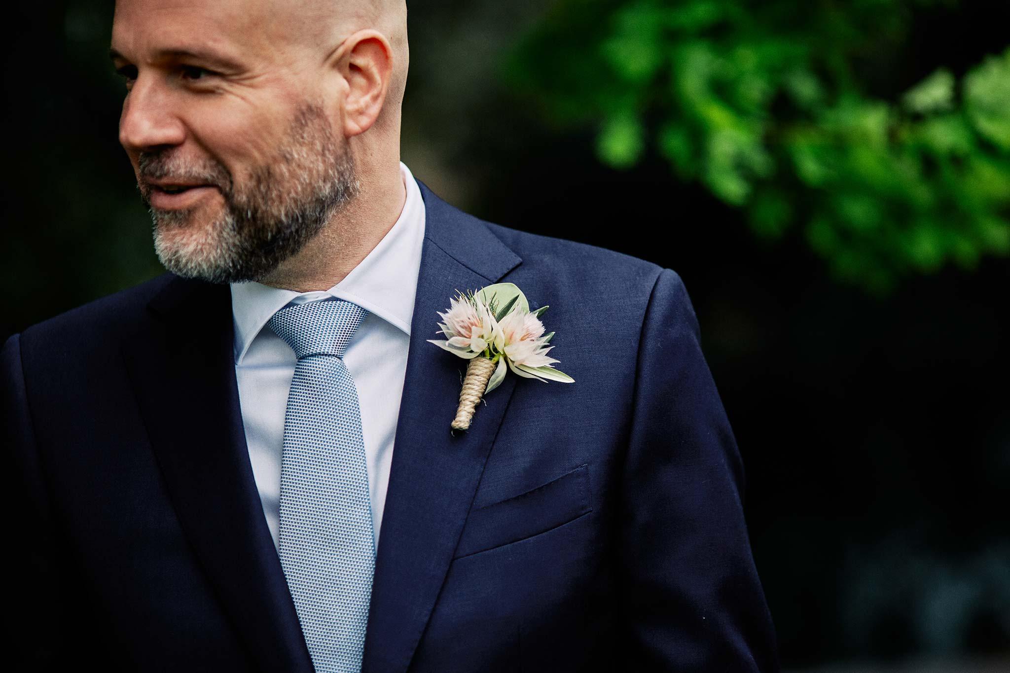 Melbourne Royal Botanical Garden Wedding Ceremony Groom Flower