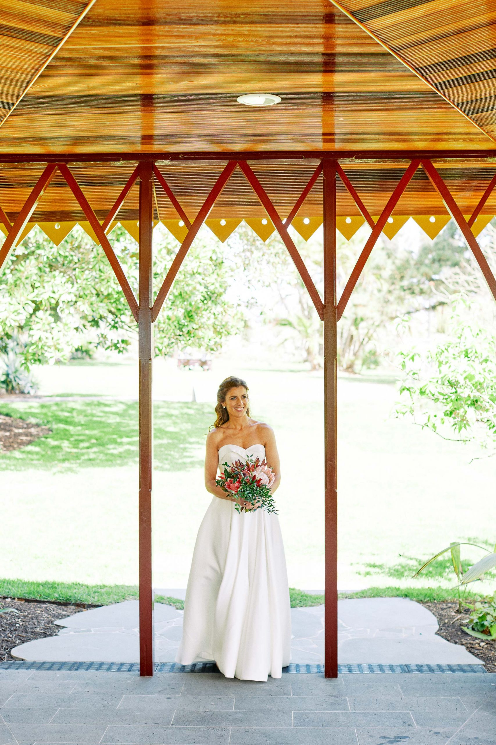 Melbourne Royal Botanical Garden Wedding Ceremony Bride Arrival