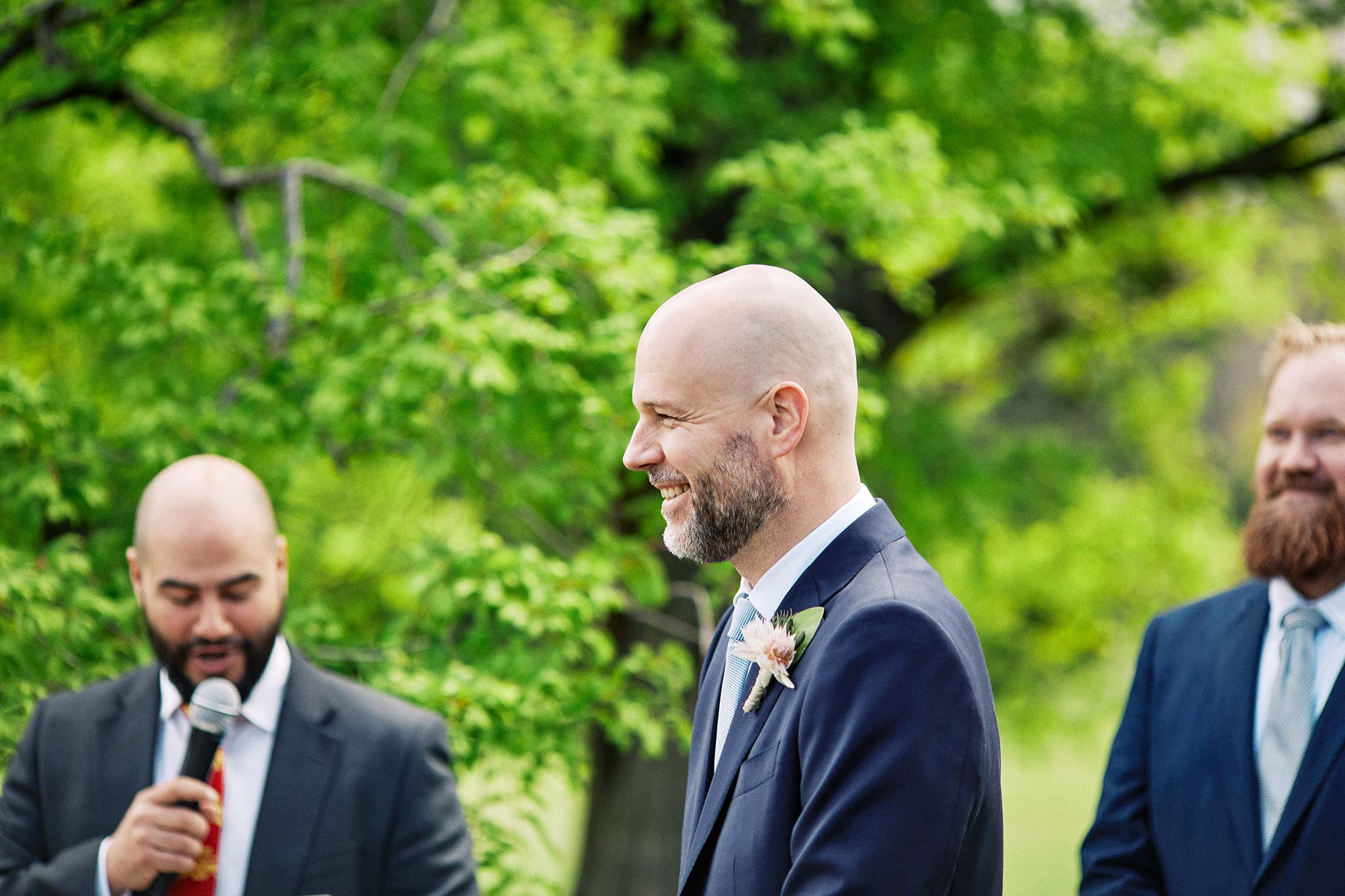 Melbourne Royal Botanical Garden Wedding Ceremony groom profile