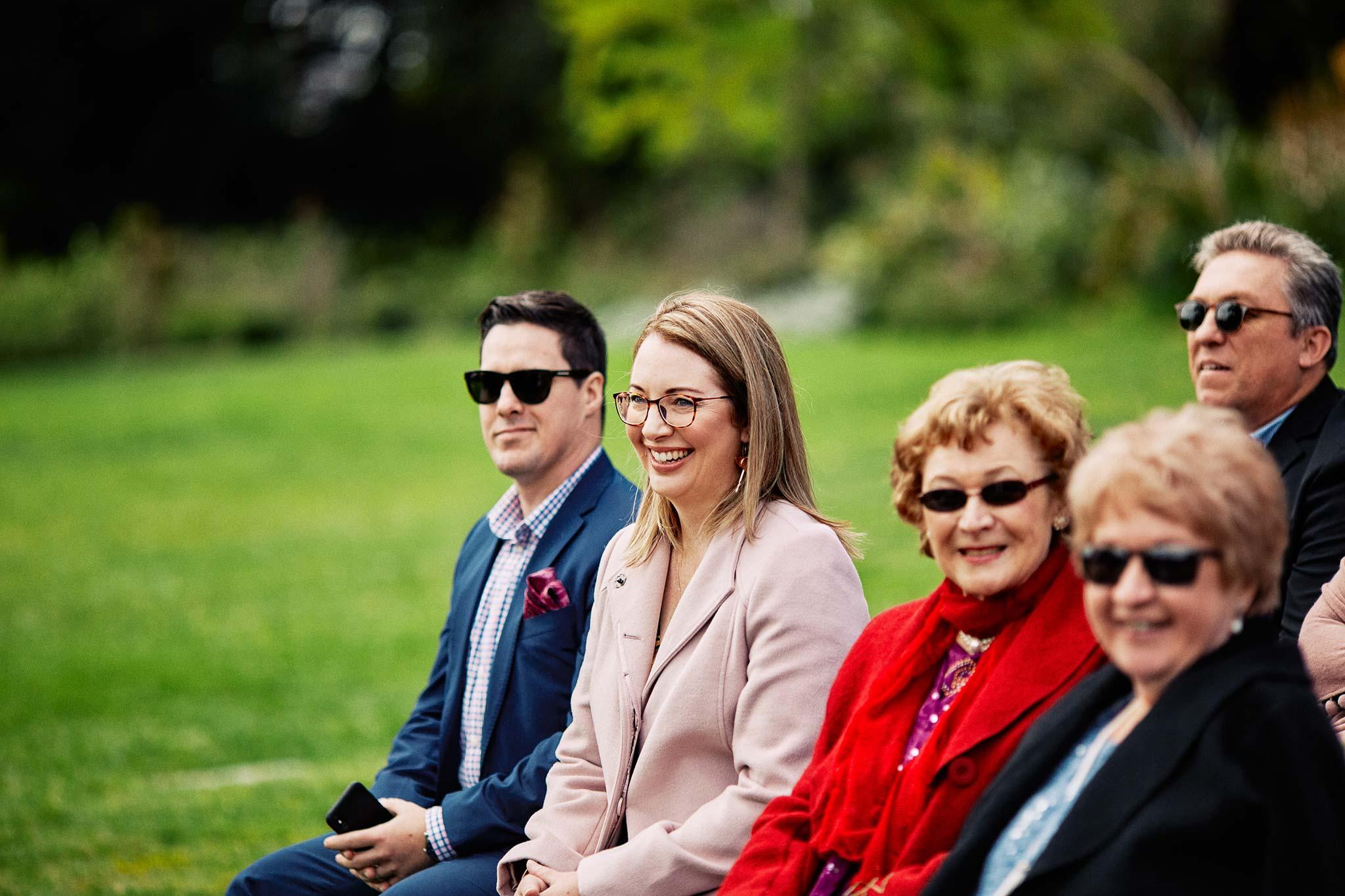 Melbourne Royal Botanical Garden Wedding Ceremony guests reaction