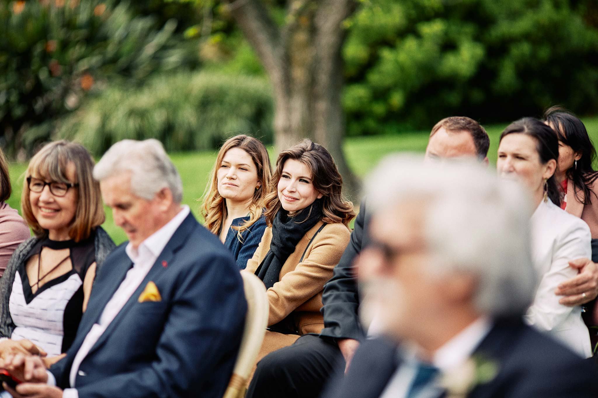 Melbourne Royal Botanical Garden Wedding Ceremony guest reaction