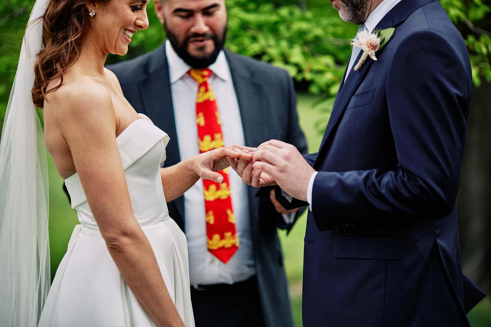 Melbourne Royal Botanical Garden Wedding Ceremony ring