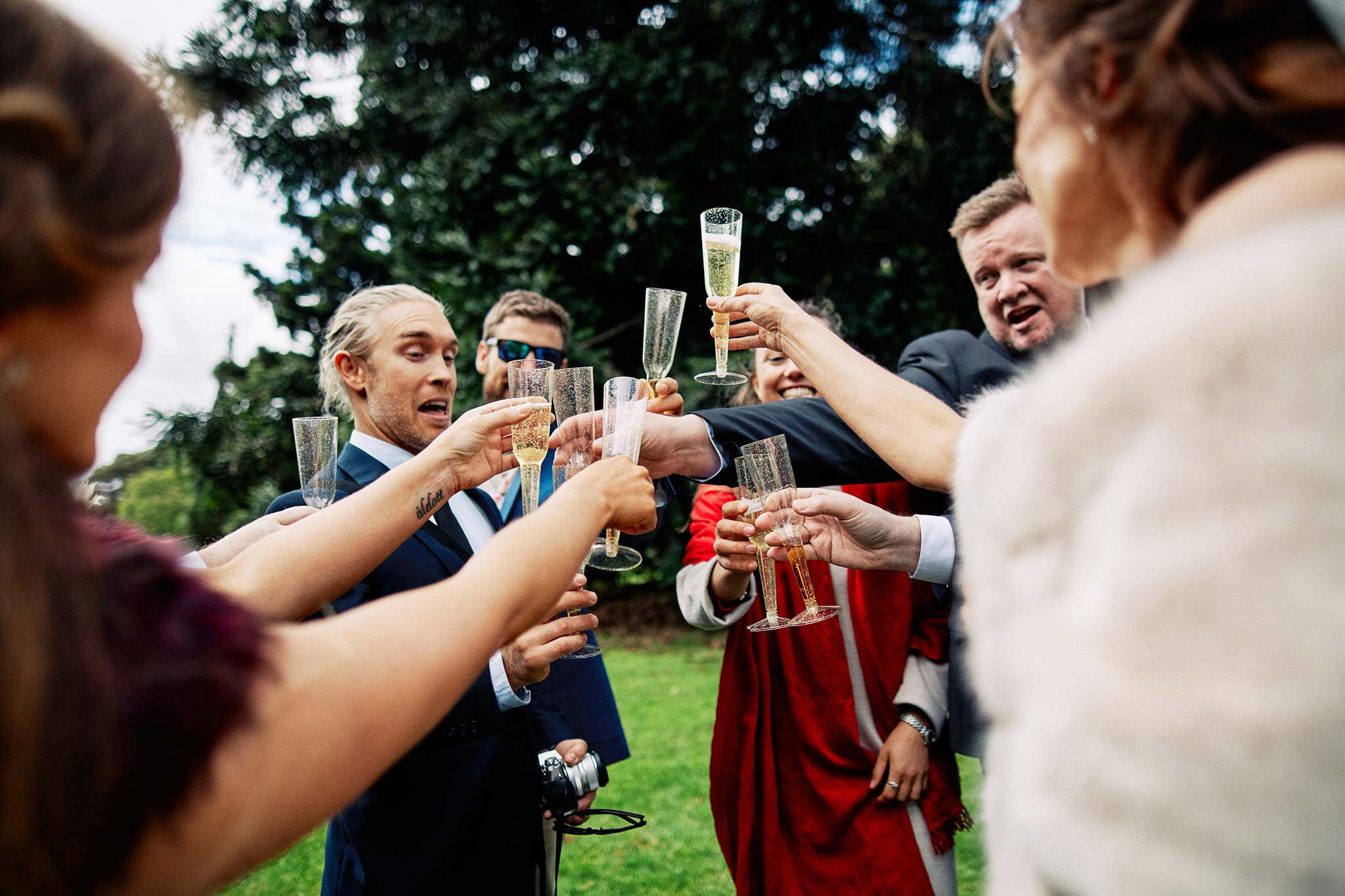Melbourne Royal Botanical Garden Wedding Ceremony toast