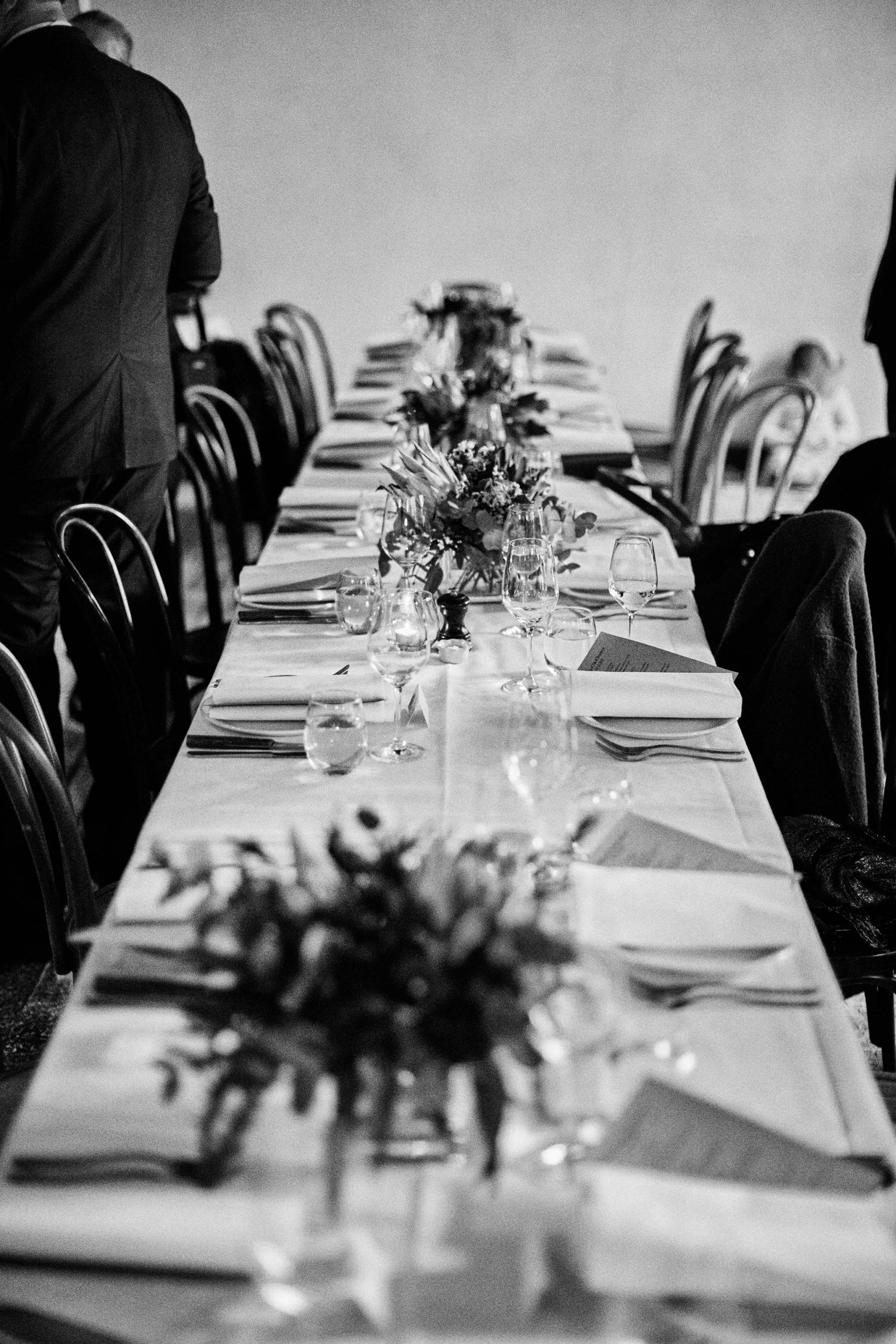 Melbourne Wedding Reception Hardware Lane French Saloon Reception long table set up