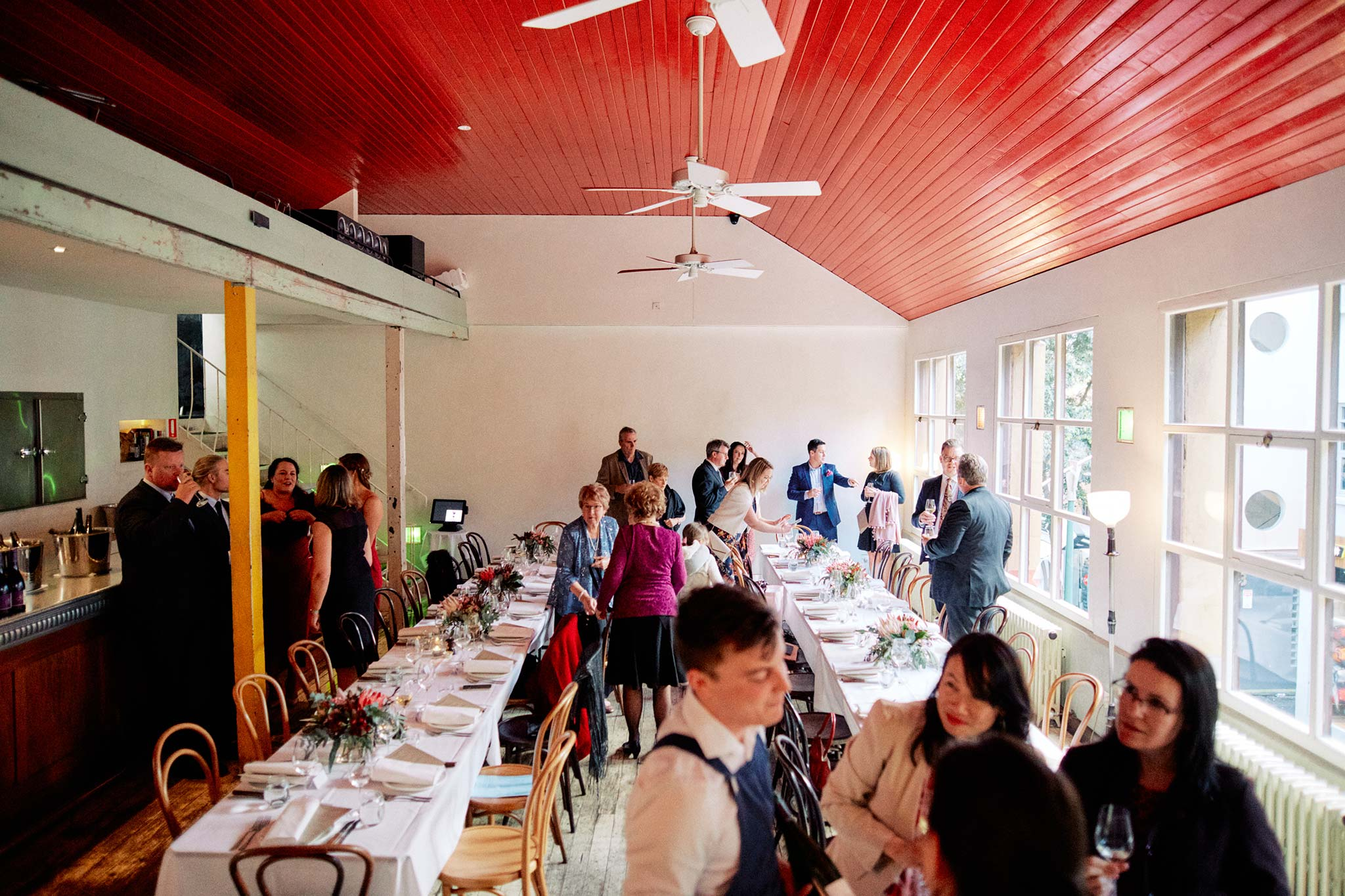 Melbourne Wedding Reception Hardware Lane French Saloon Reception guests arrival