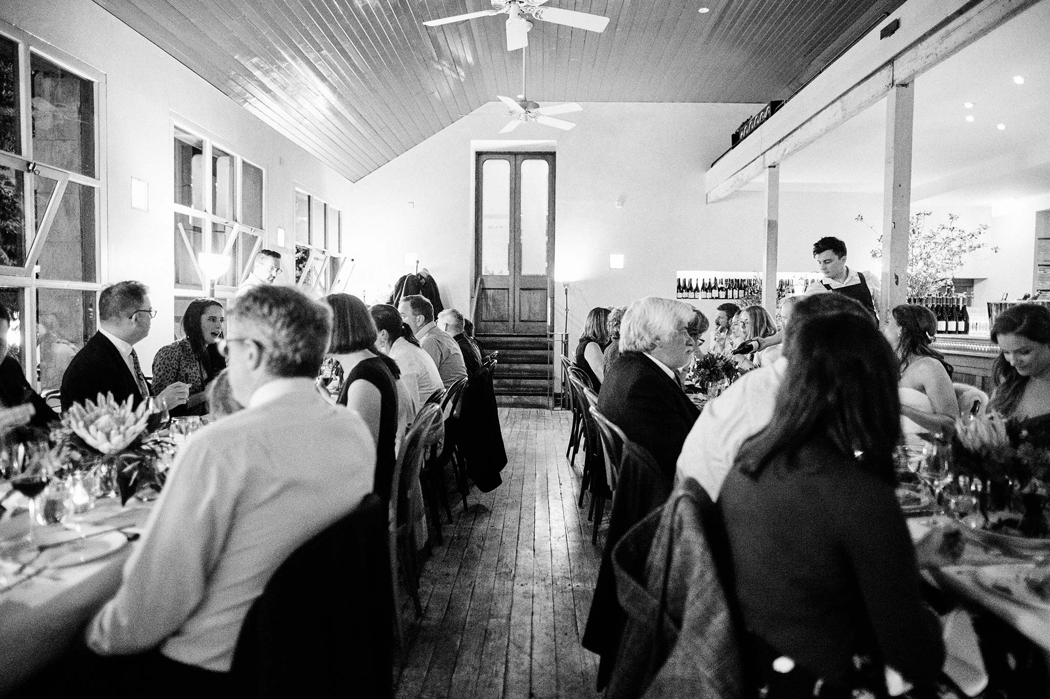 classic melbourne wedding reception french saloon dinner interior
