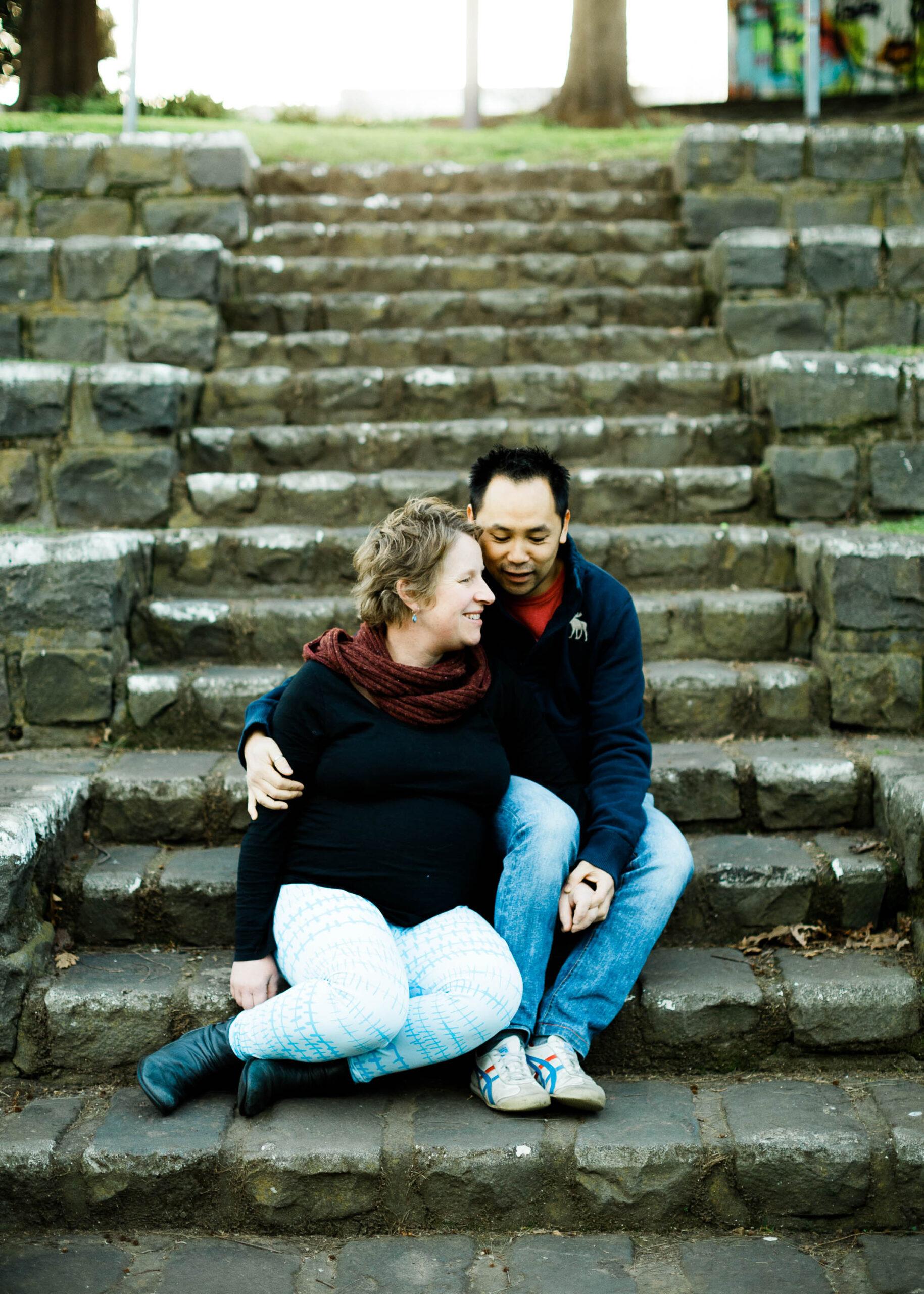 footscray maternity photographer steps