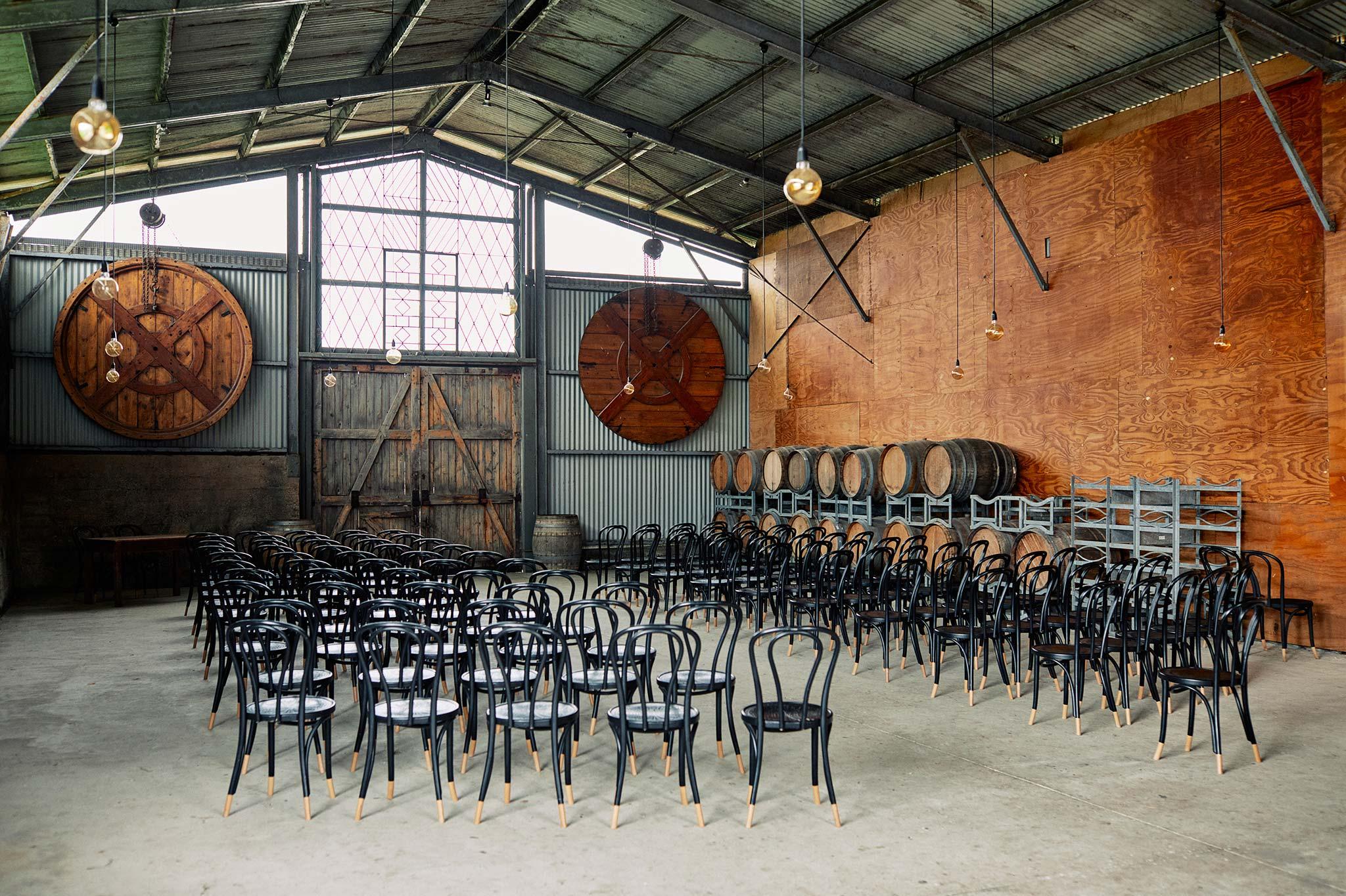 Zonzo estate wedding barn ceremony