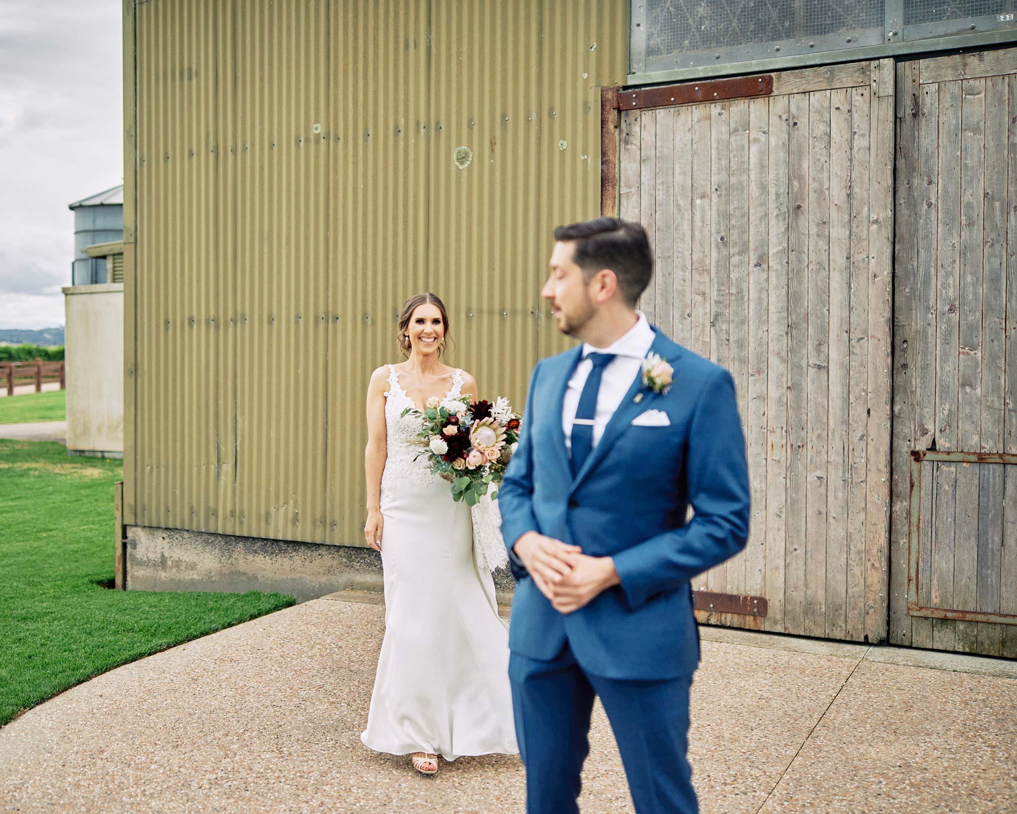 Zonzo estate wedding first look