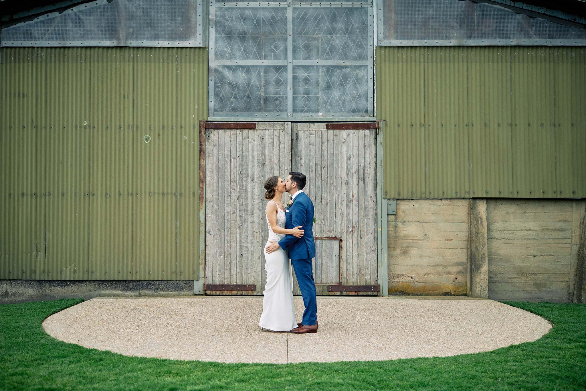 Zonzo estate wedding bride groom first look