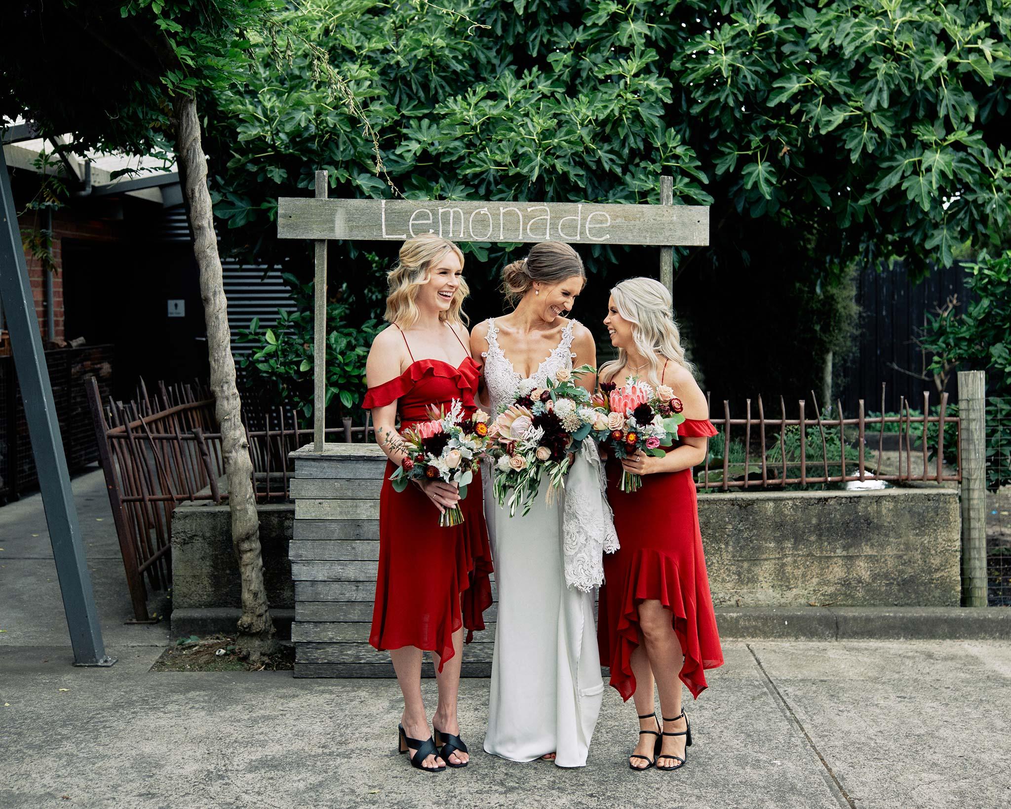 Zonzo estate wedding bridal party