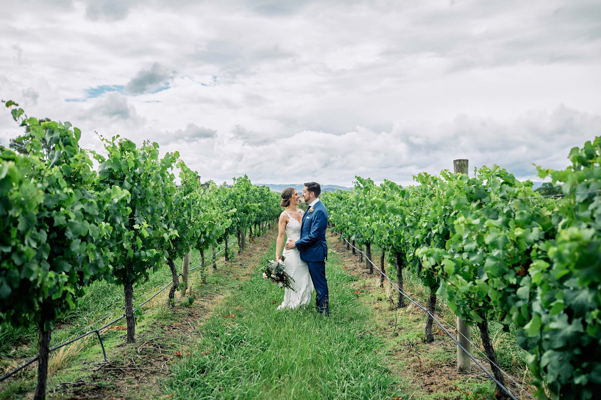 Zonzo estate wedding vineyard couple