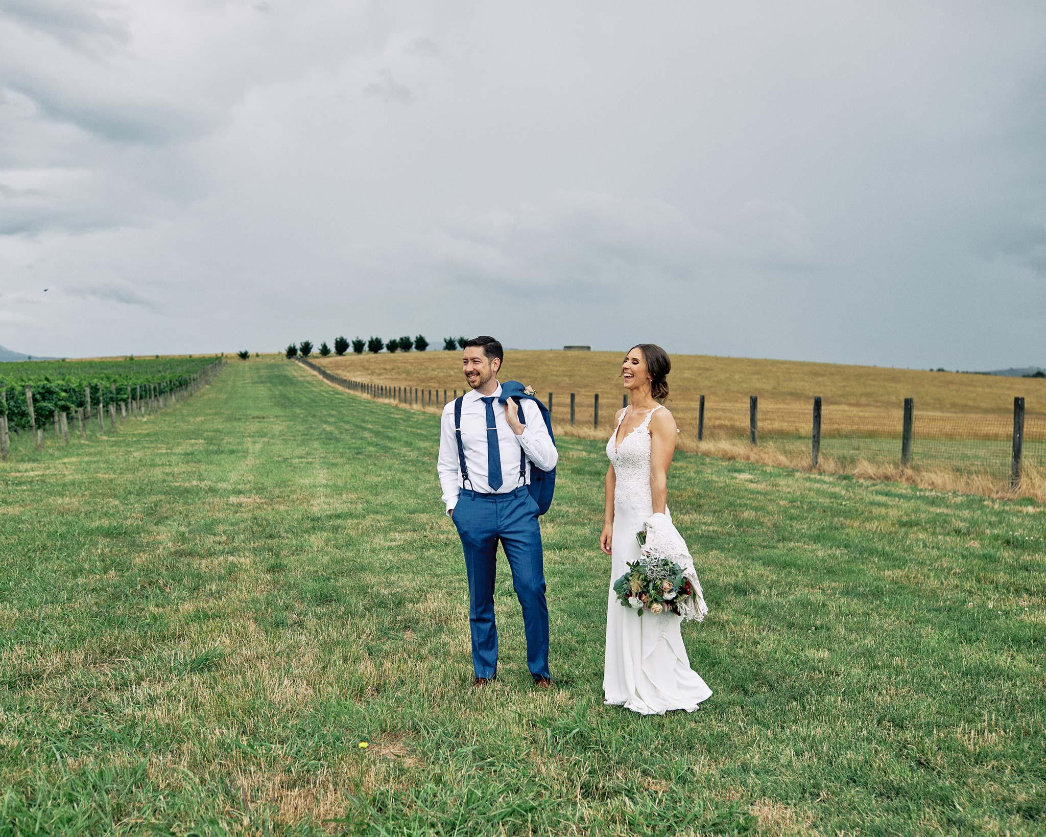Zonzo estate wedding casual vineyard