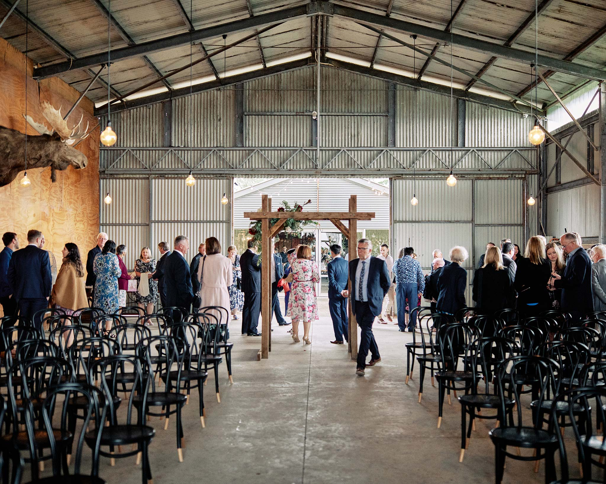 Zonzo estate wedding guests ceremony
