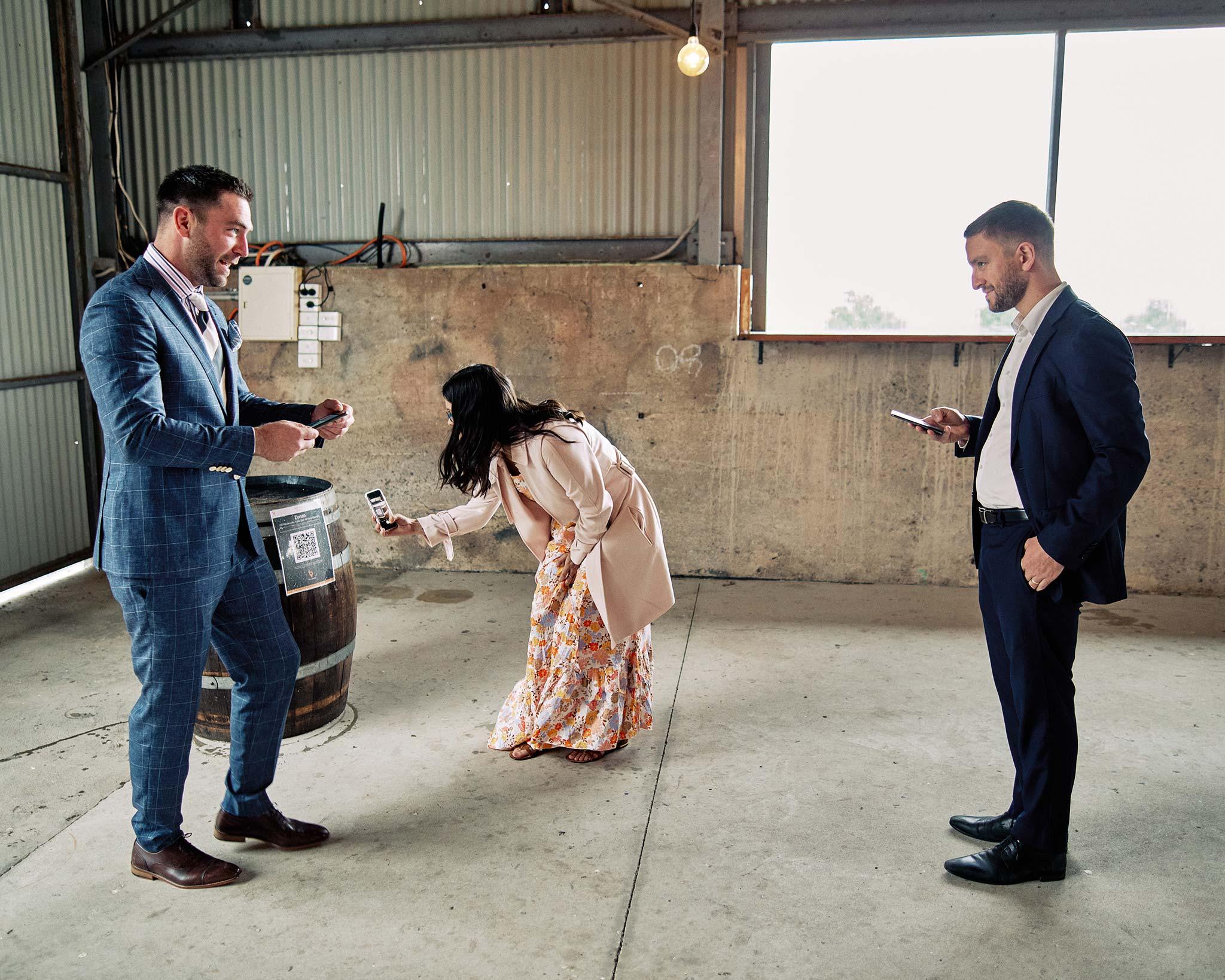 Zonzo estate wedding check in