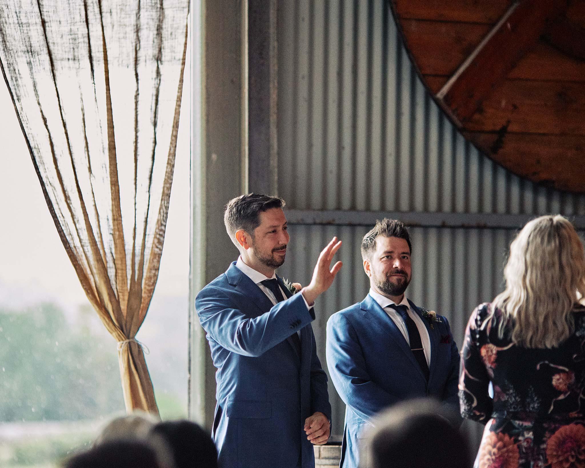 Zonzo estate wedding groom waiting