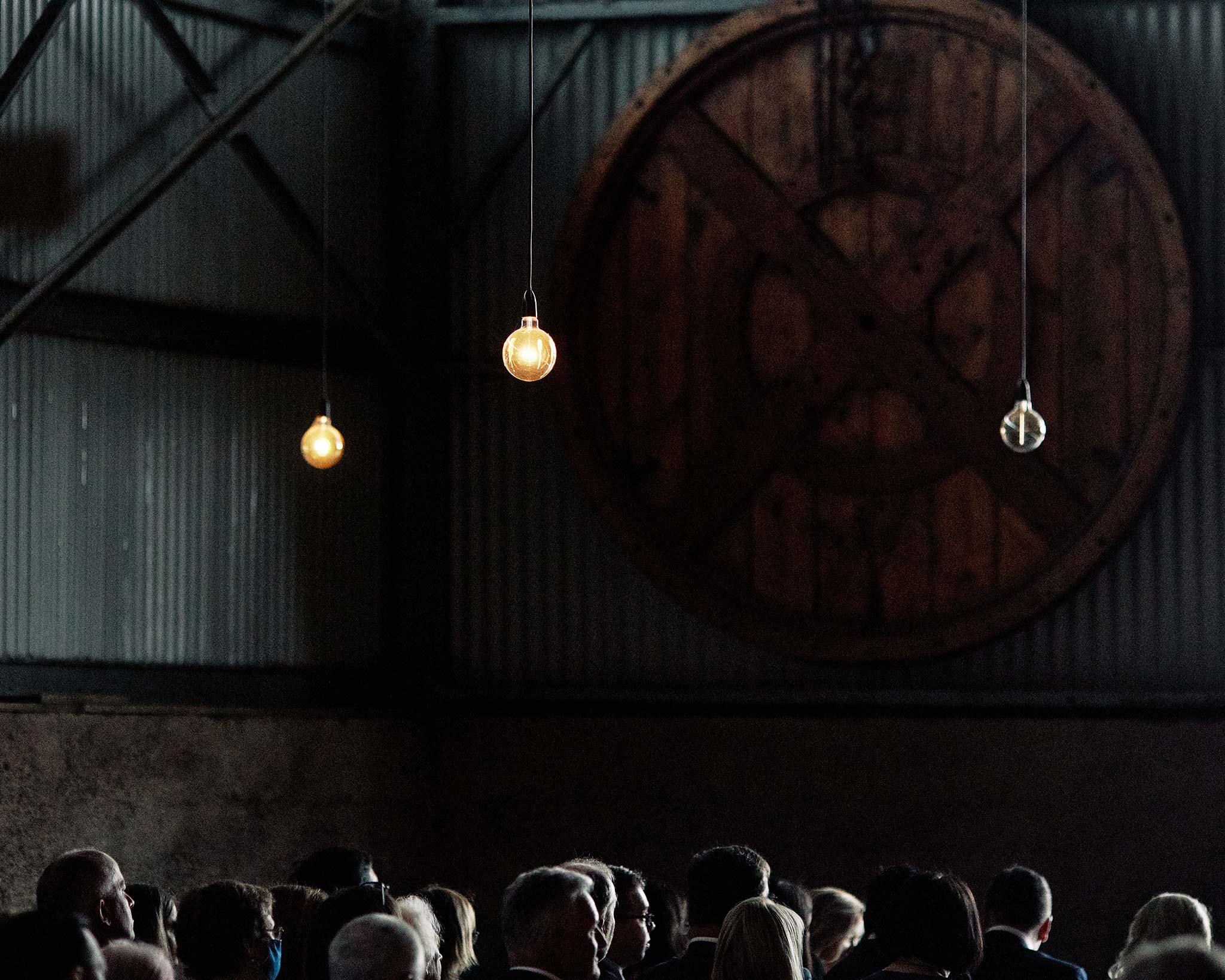 Zonzo estate wedding barn lights