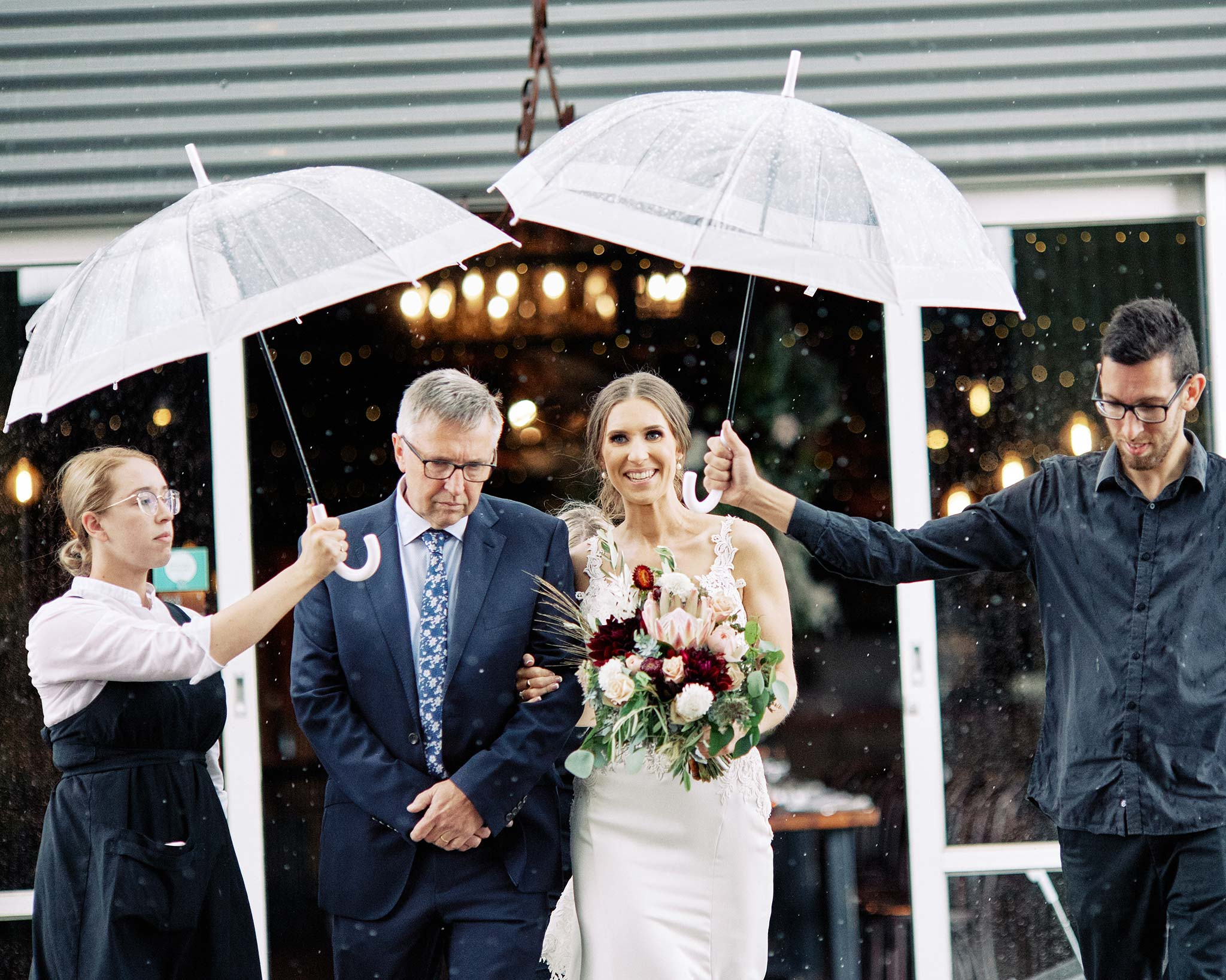 Zonzo estate wedding bridal entrance