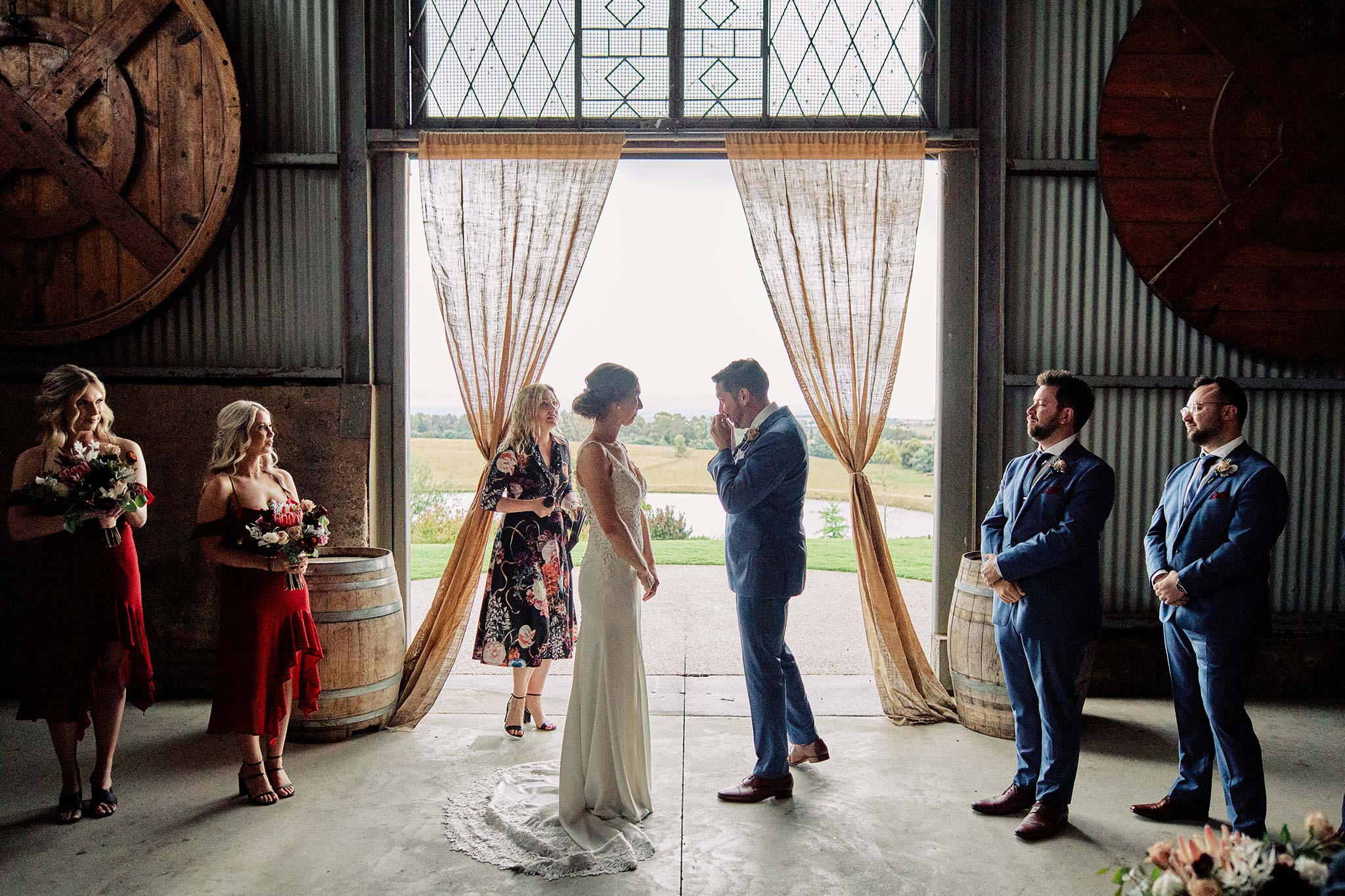 Zonzo estate wedding groom crying ceremony
