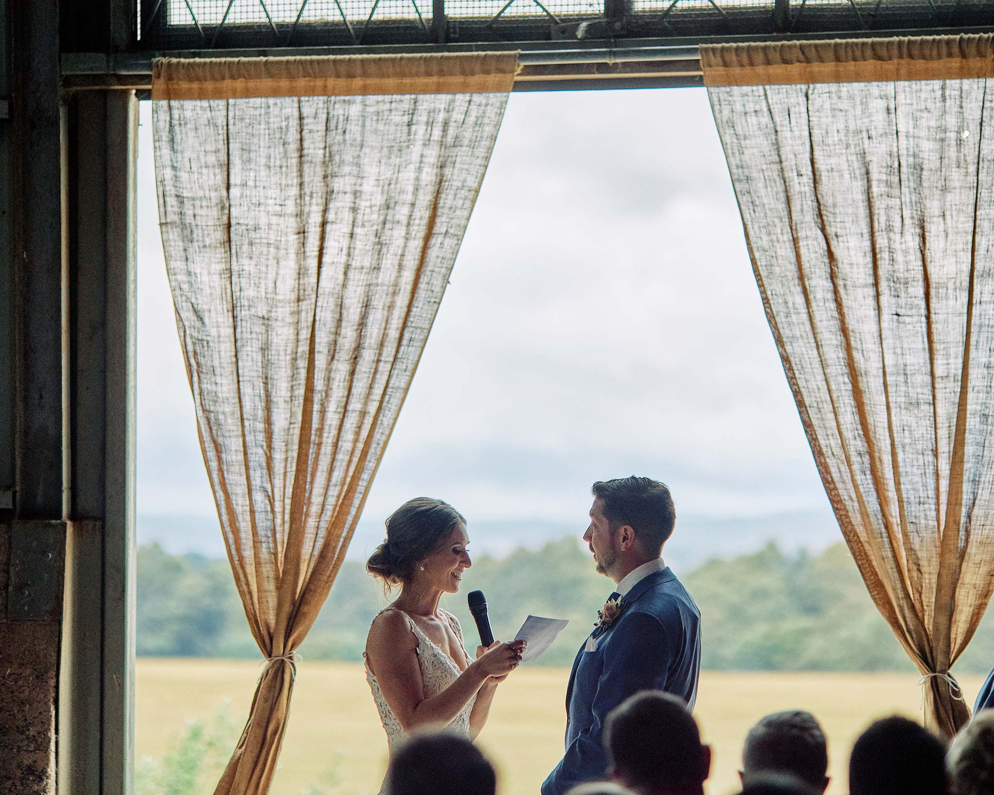 Zonzo estate wedding bride vow ceremony