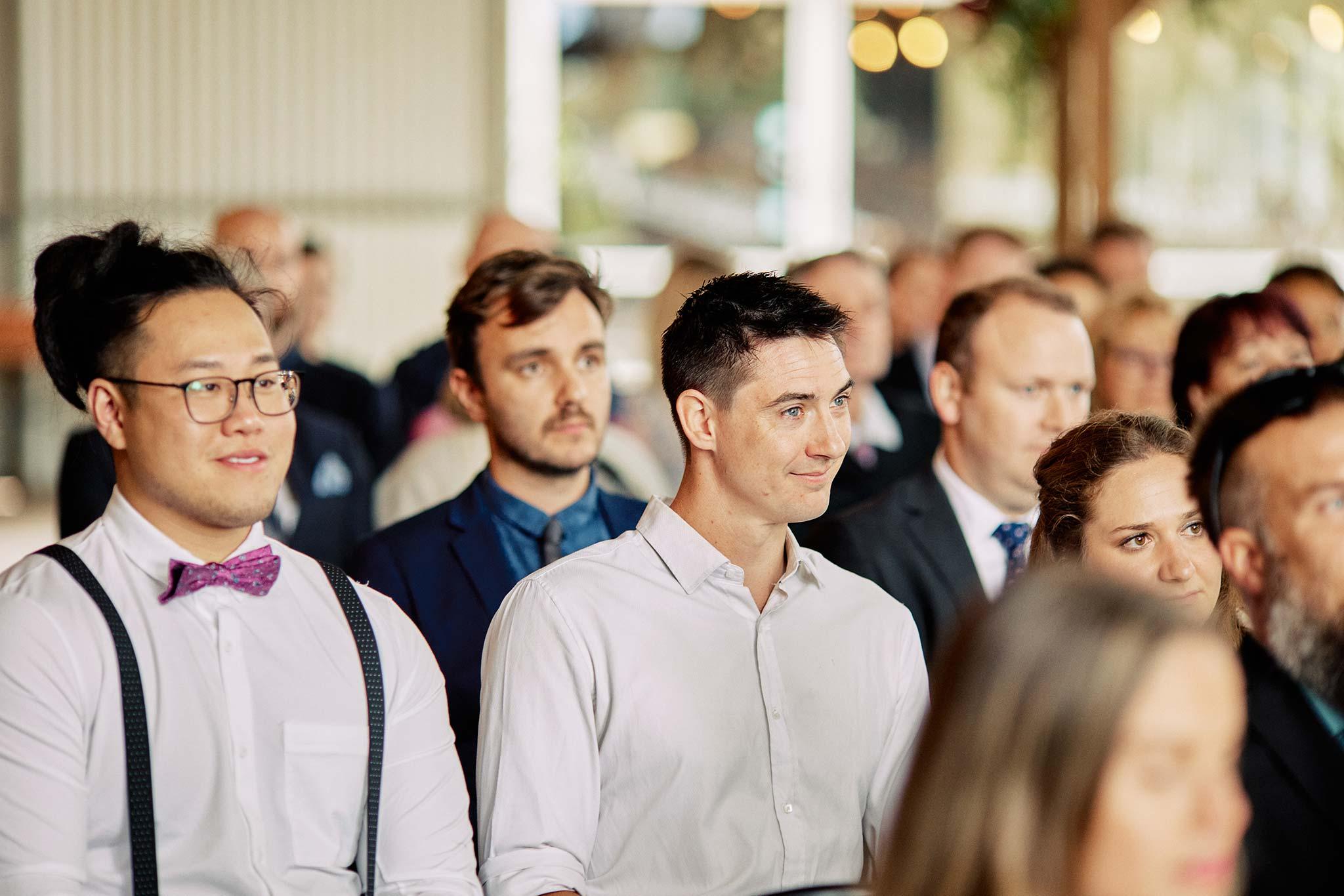 Zonzo estate wedding ceremony guest reaction