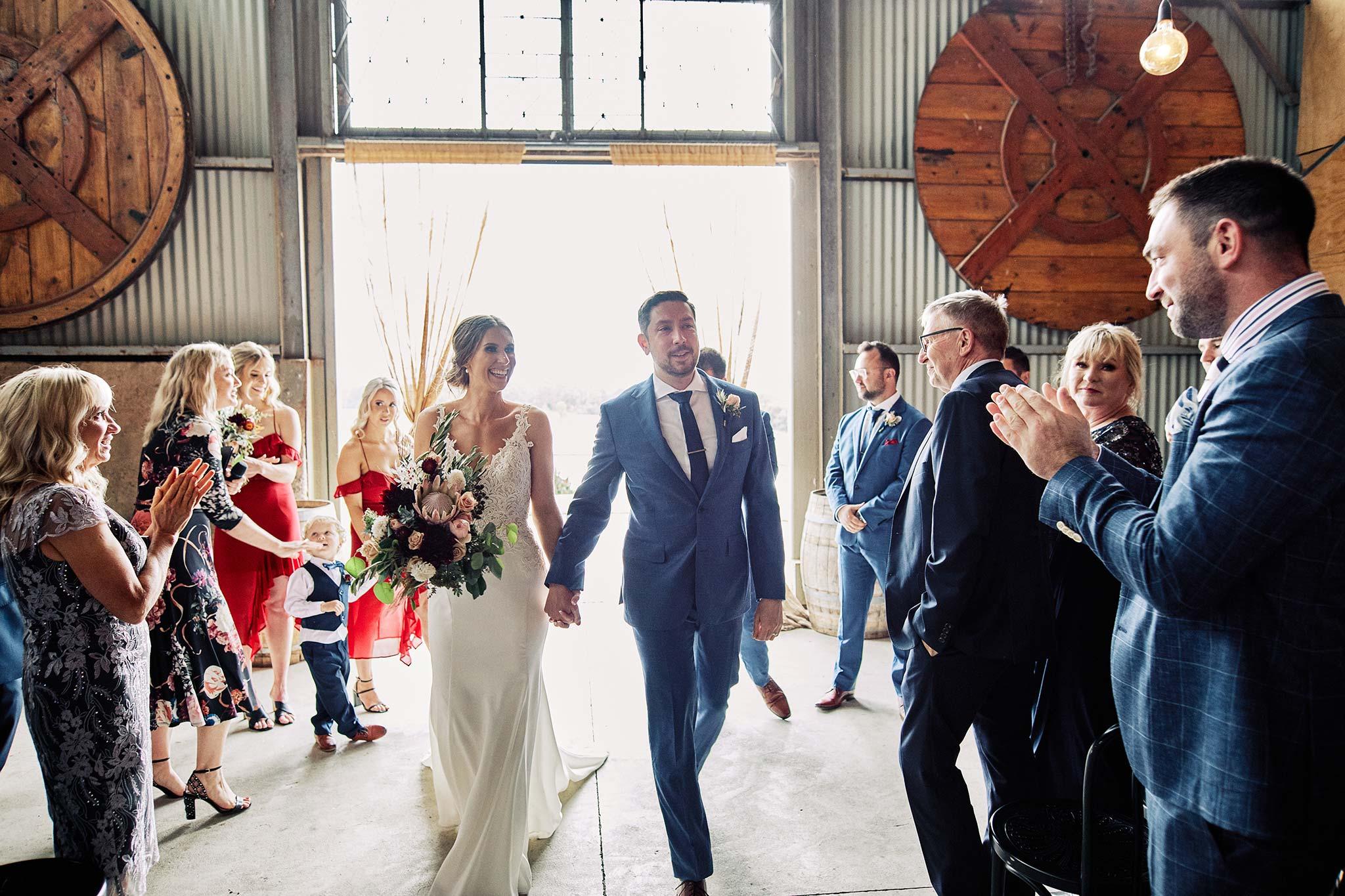 Zonzo estate wedding ceremony exit