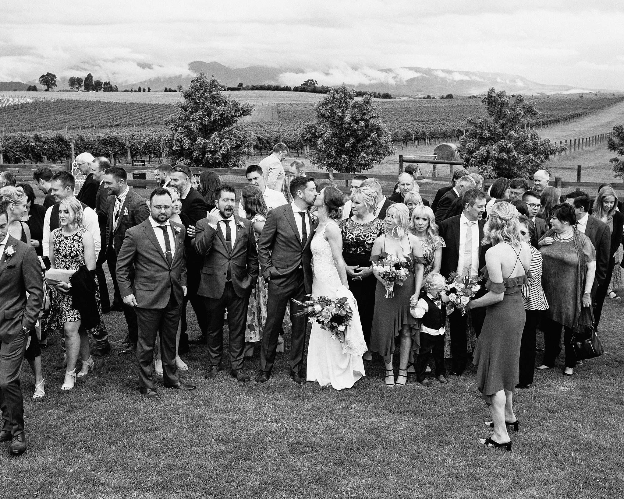 Zonzo estate wedding group shot