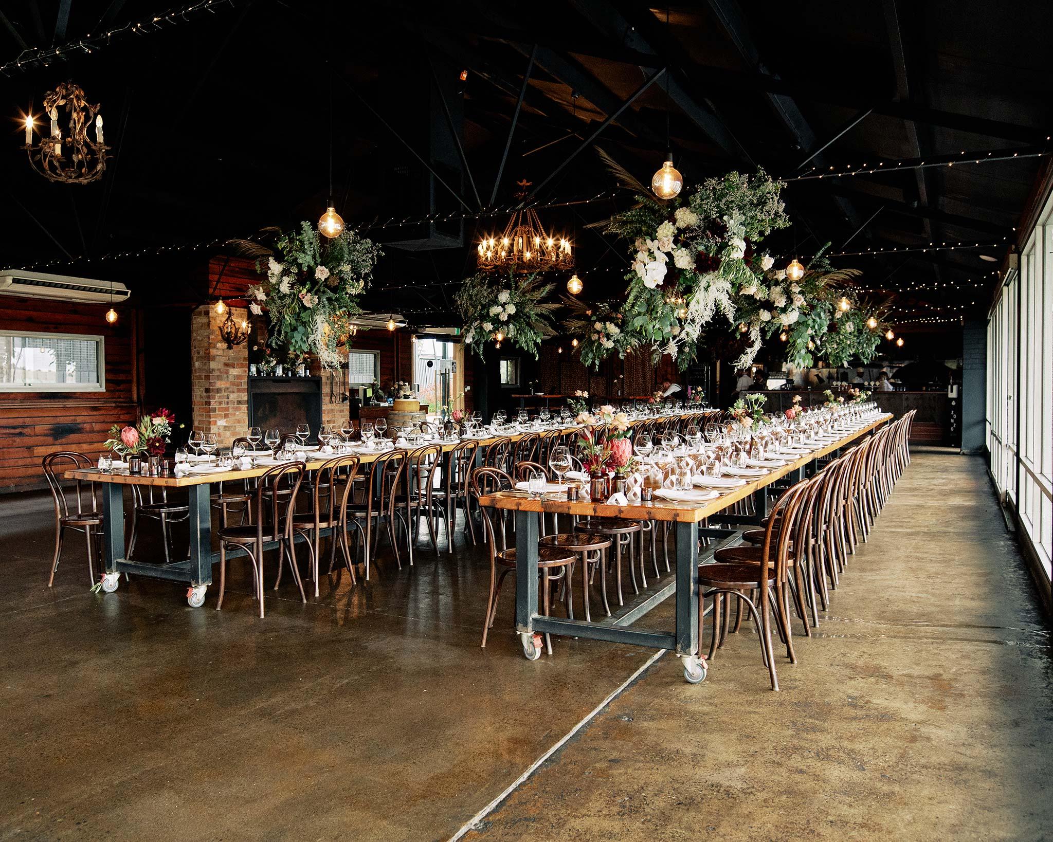 Zonzo estate wedding reception decoration of tables