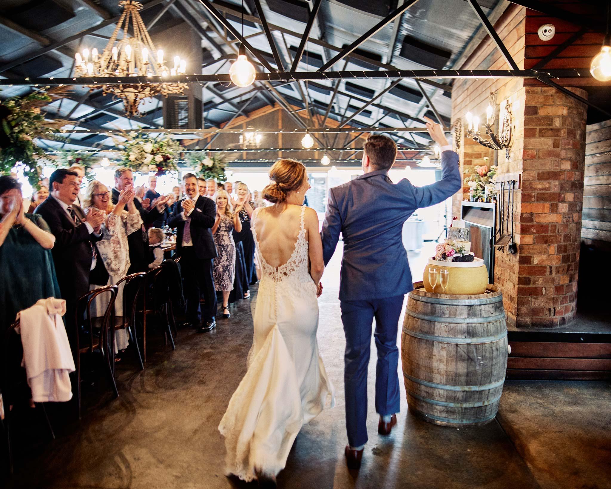Zonzo estate wedding bridal entry reception