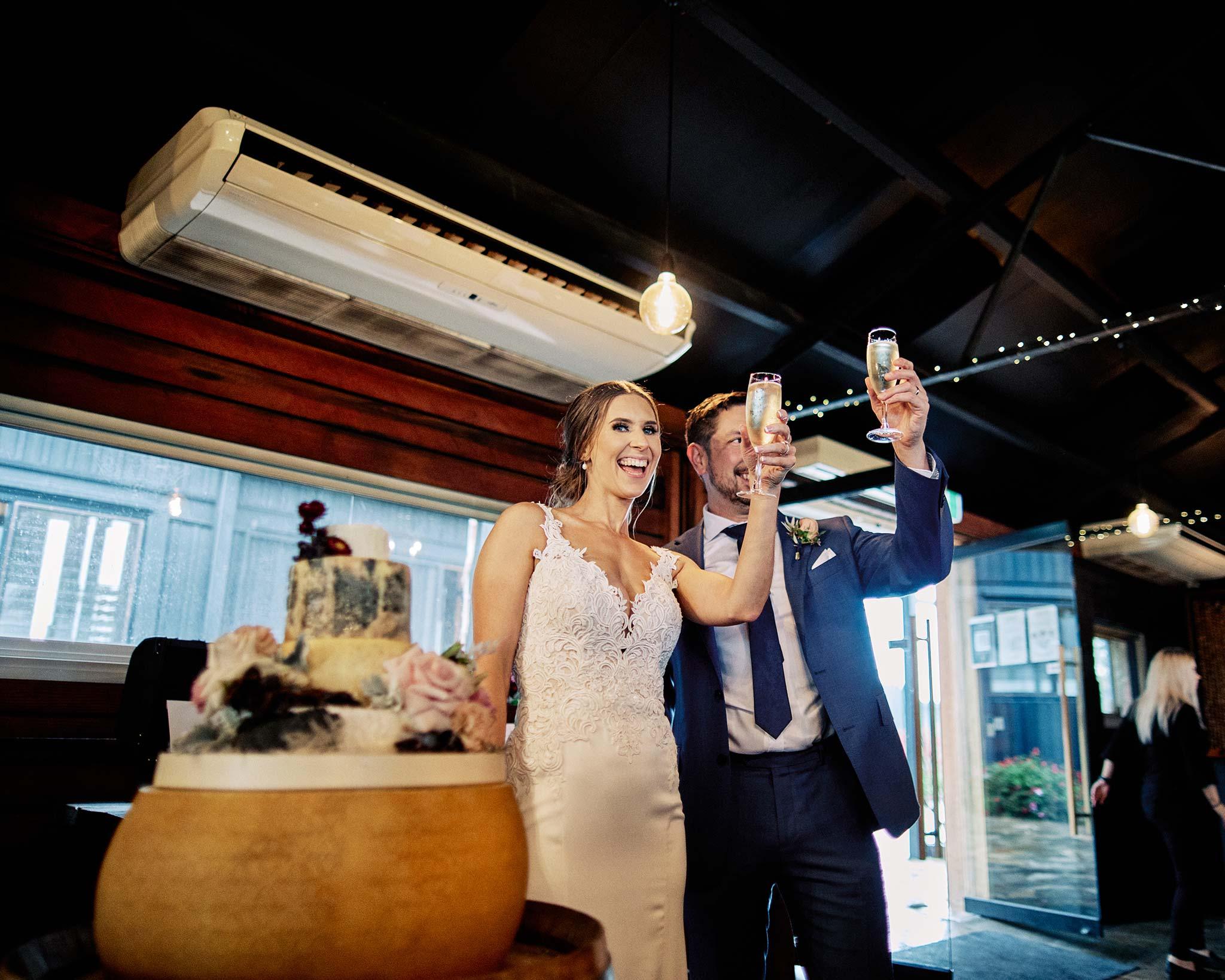 Zonzo estate wedding reception cheers