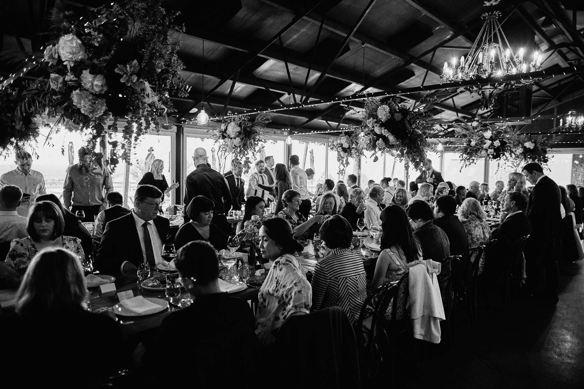 Zonzo estate wedding reception interior